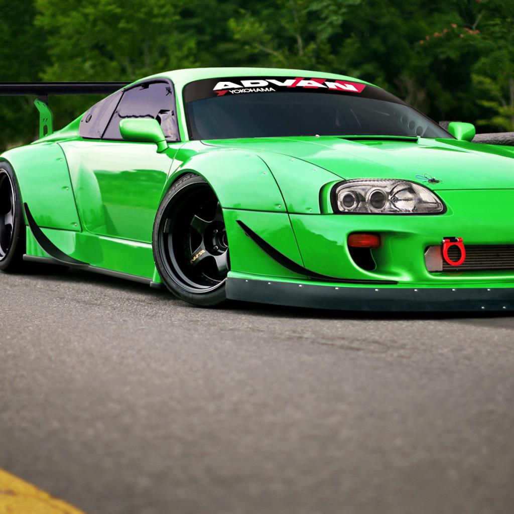 Toyota Car Wallpaper: Download Wallpaper Toyota, Car, Green, Supra, Tuning