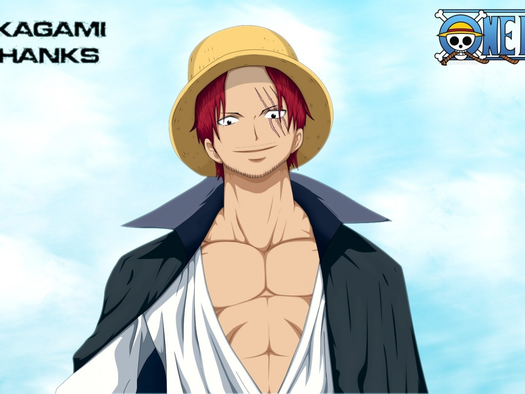 Download Wallpaper Sake Game One Piece Sky Red Hair Pirate Hat