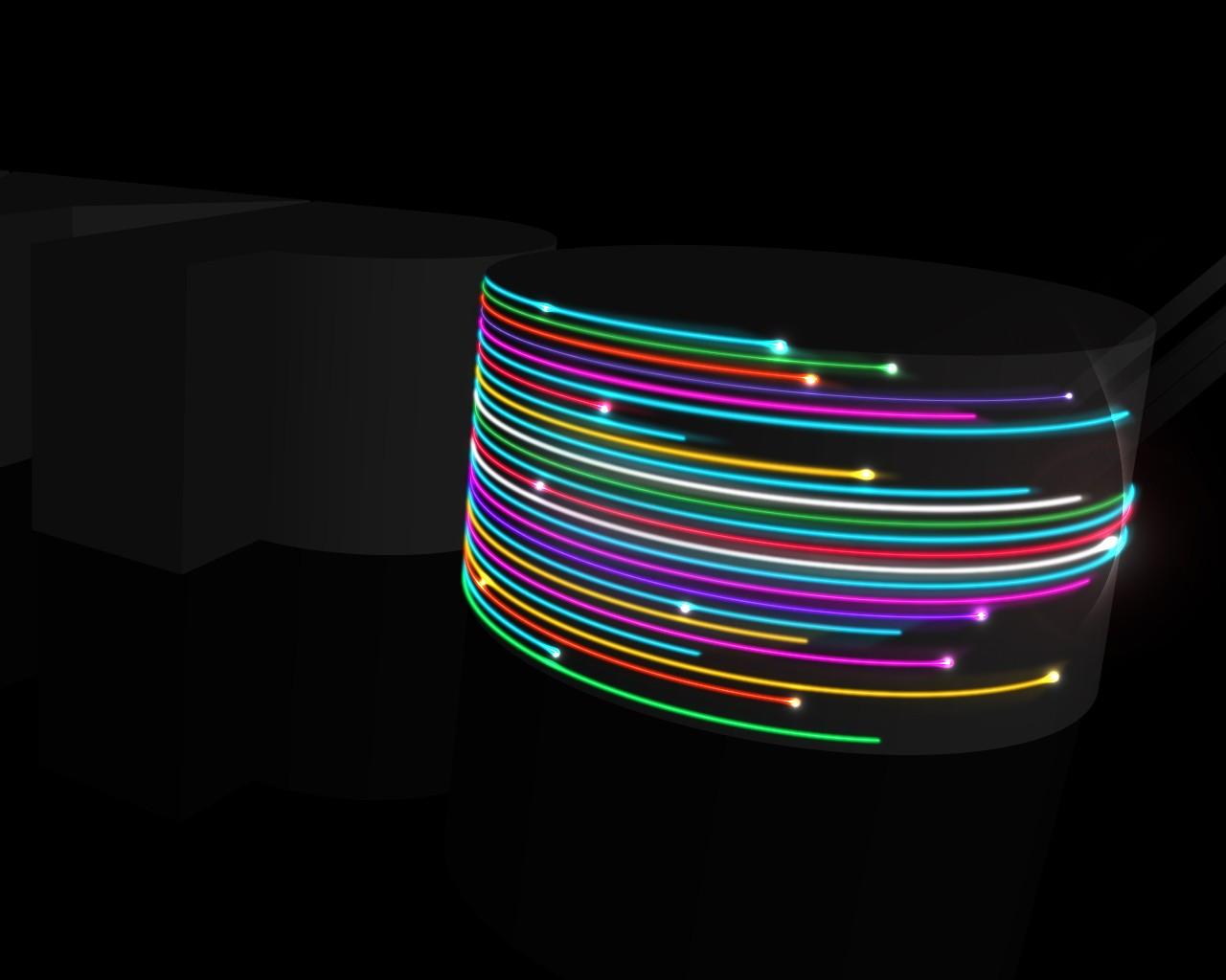 Неоновый свет от 3d объекта  № 941229 бесплатно