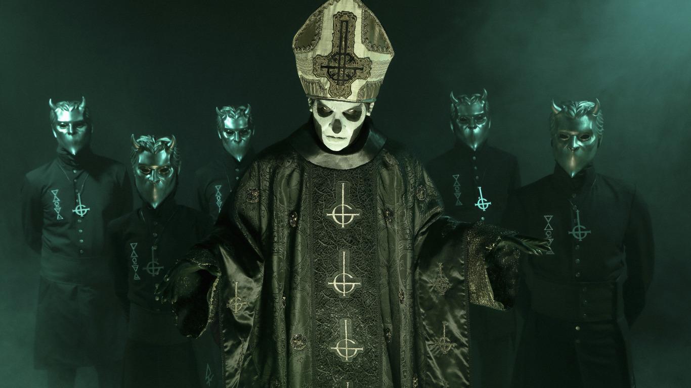 Download Wallpaper Ghost Band Doom Nameless Ghouls Papa Emeritus