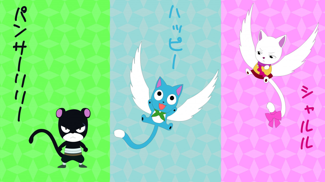 Anime Cat With Wings download wallpaper green, kawaii, game, flying, nothing