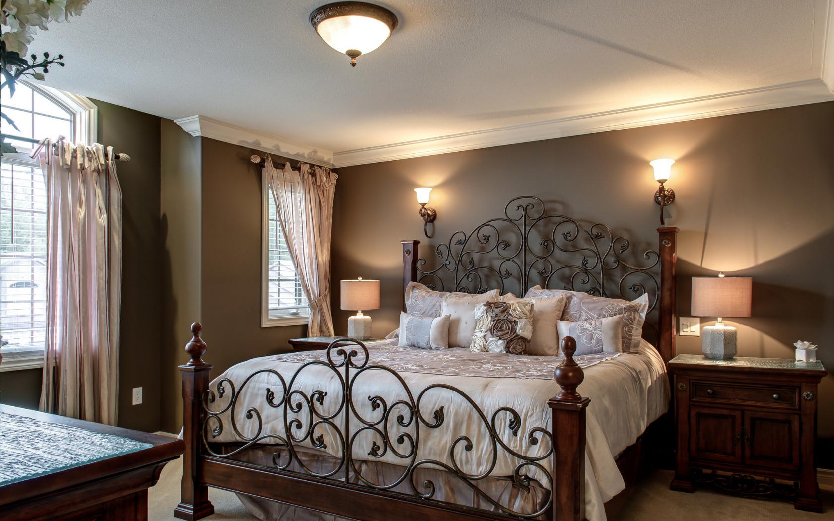 Спальня кованная мебель дизайн