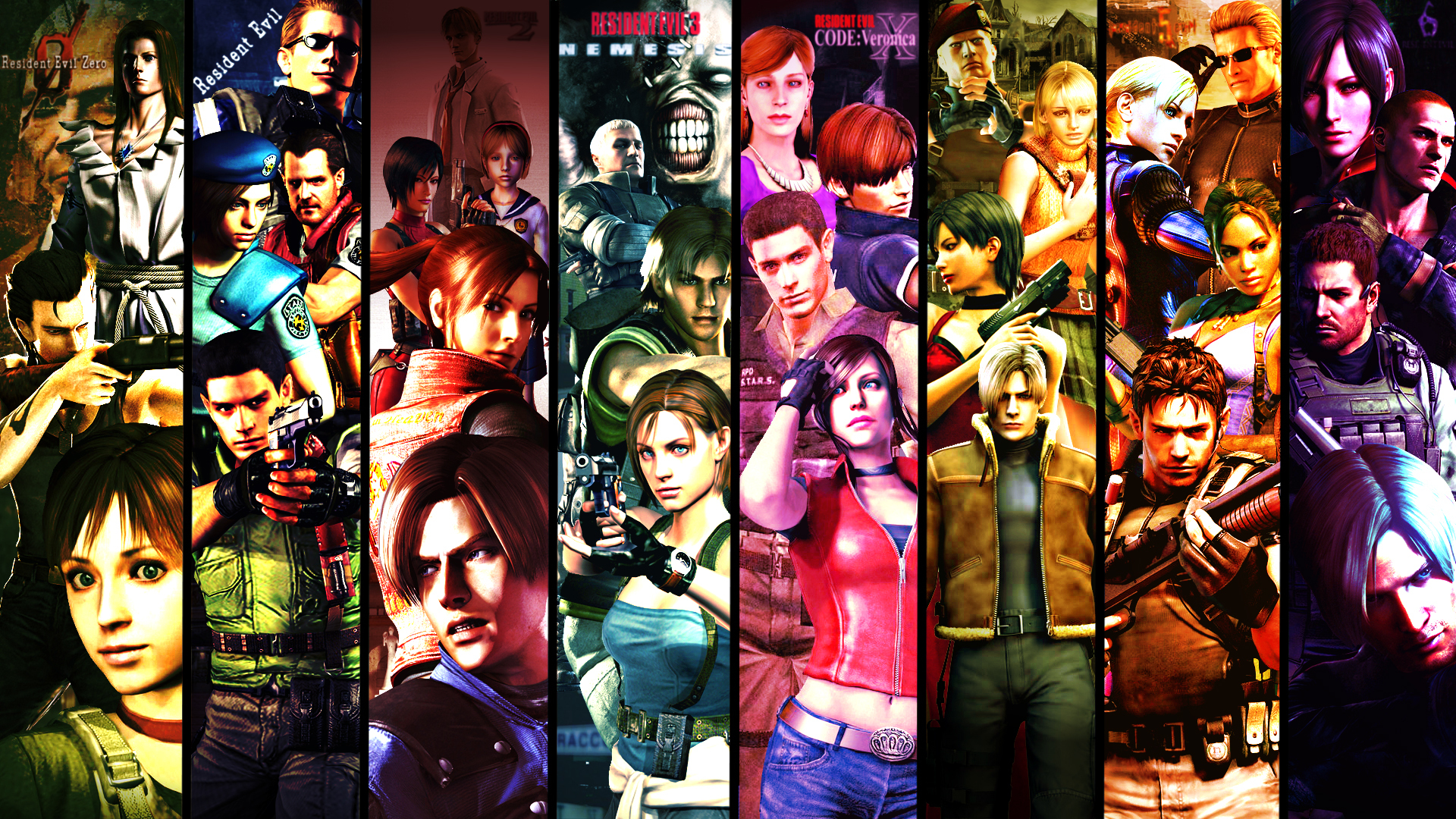 Download Wallpaper Biohazard Art Characters Resident Evil Jill