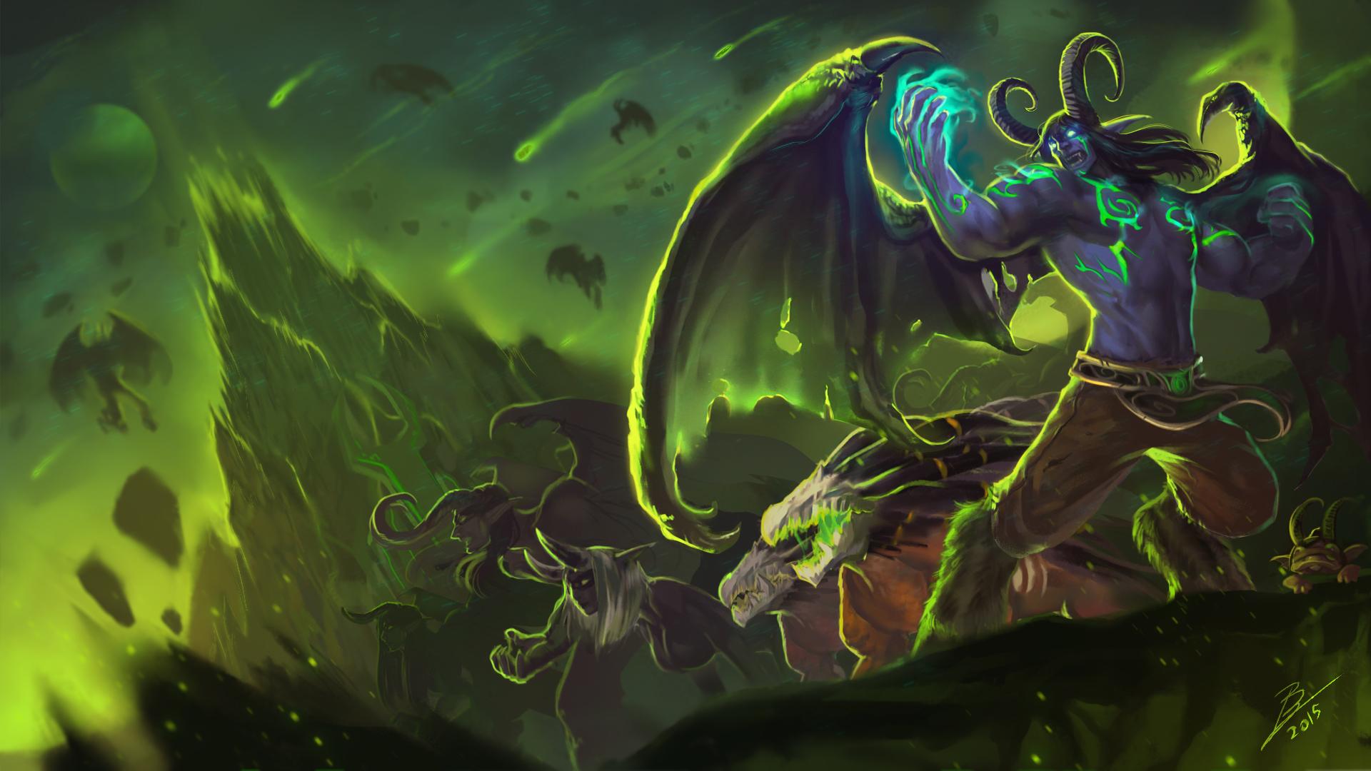 Download Wallpaper The Demon Wow World Of Warcraft Legion