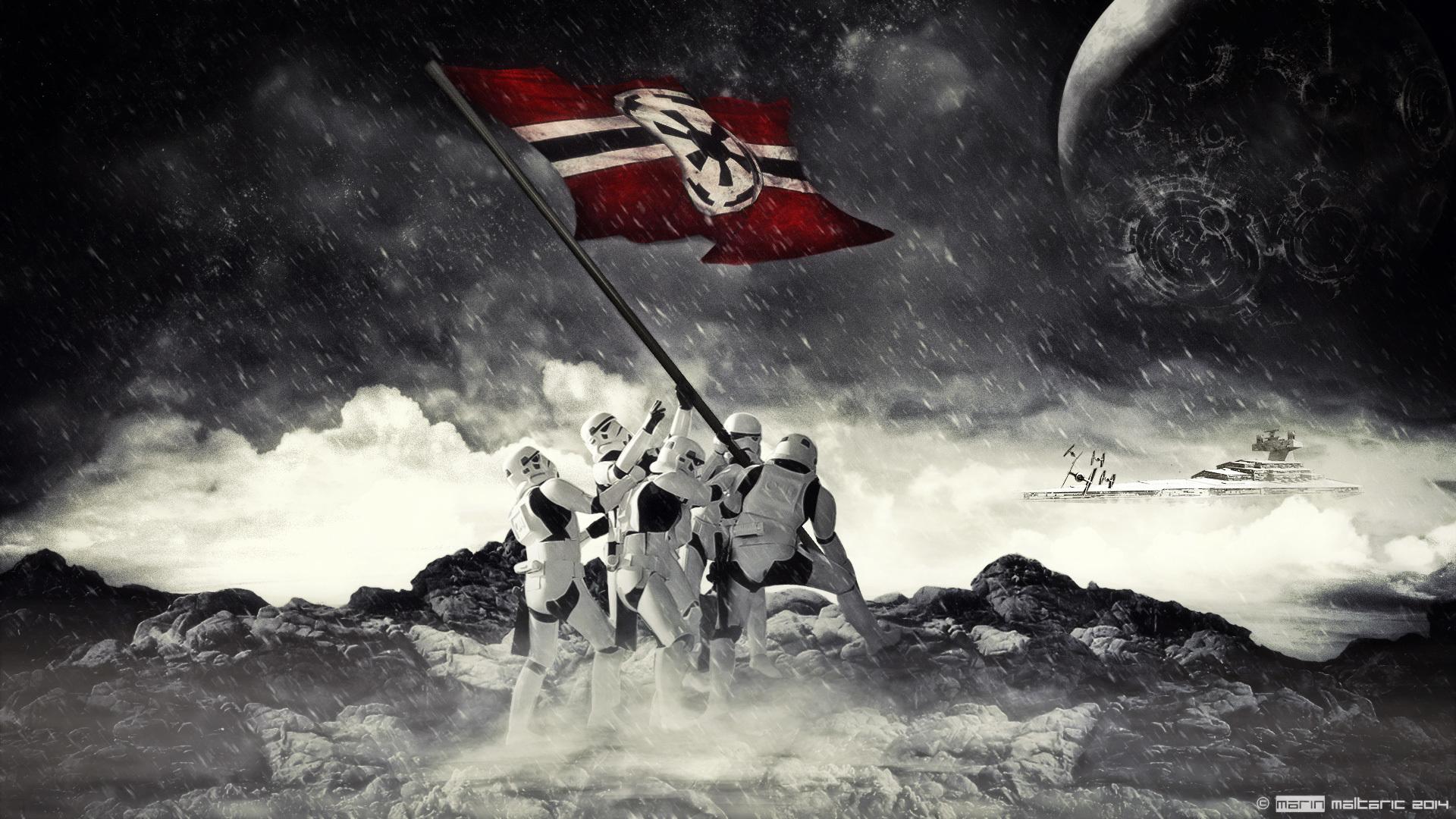 Download Wallpaper Star Wars Star Wars Flag Stormtrooper
