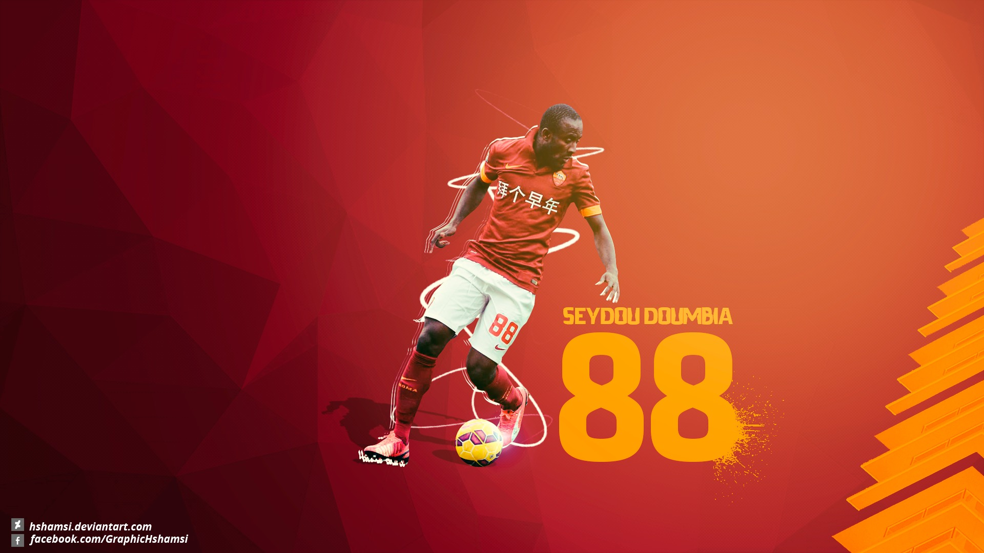 Download wallpaper graphic Seydou Doumbia Seydou Doumbia sport