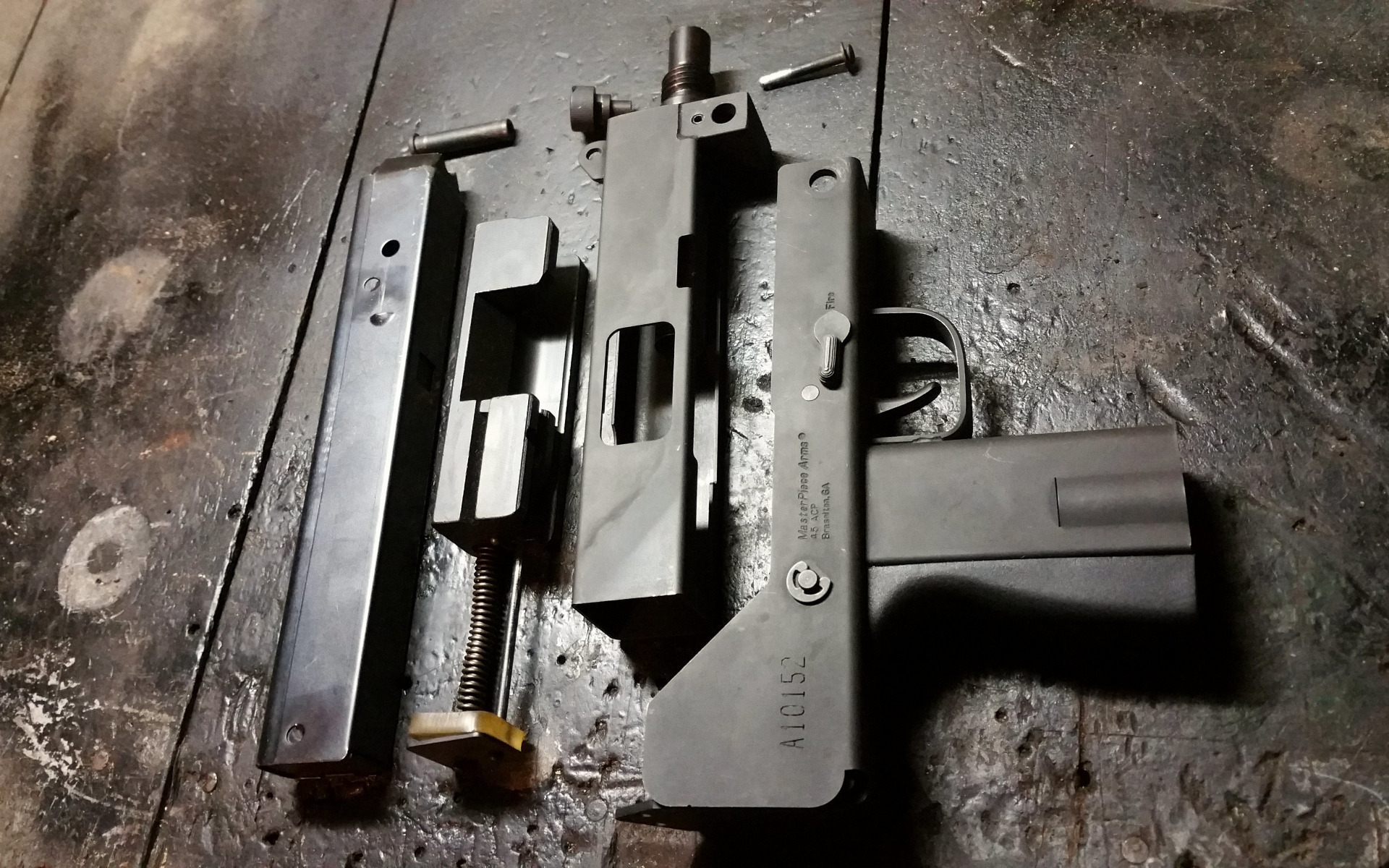Download wallpaper details, compact, the gun, disassembled