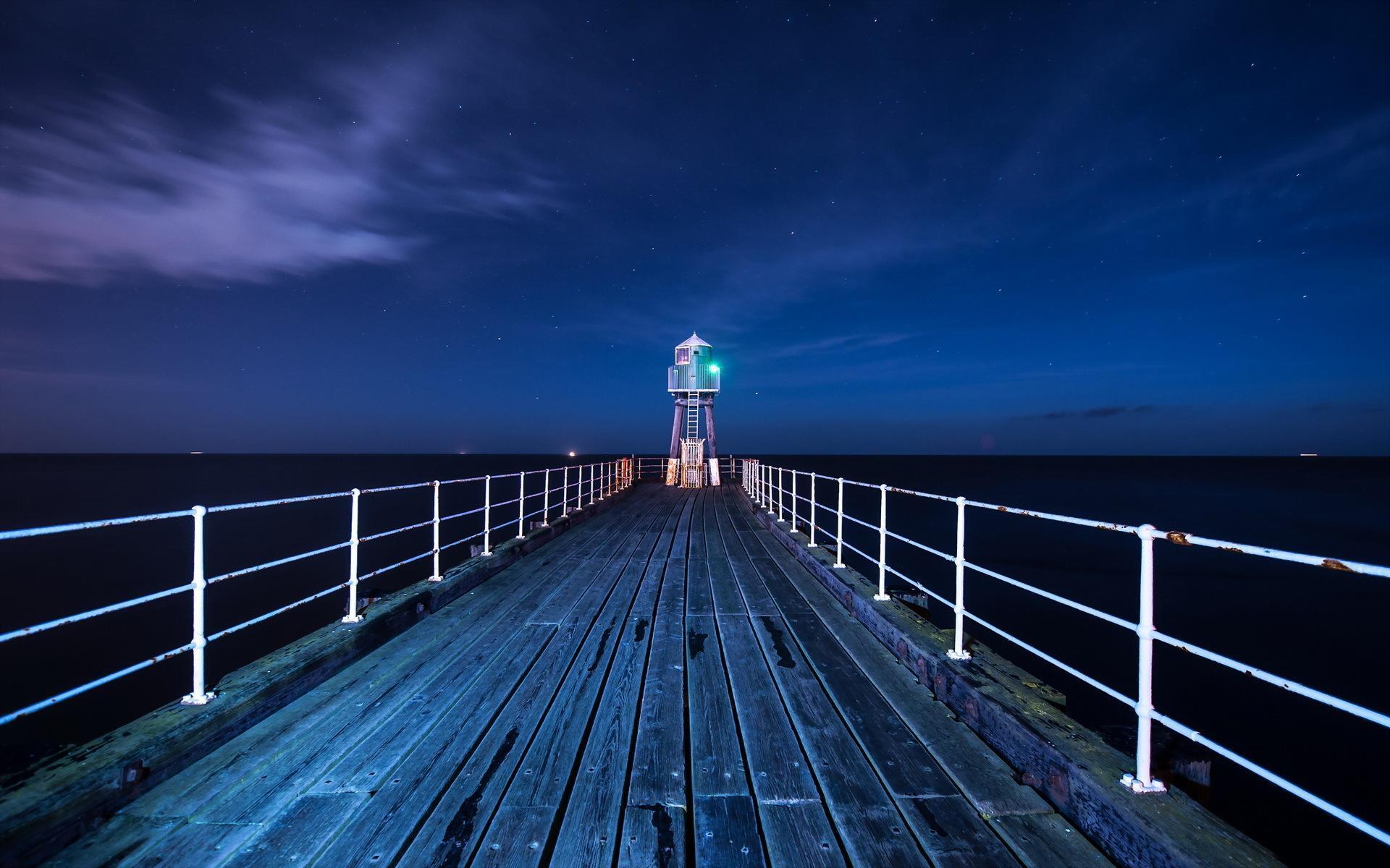 причал фонари берег море pier lights shore sea  № 2555079 без смс
