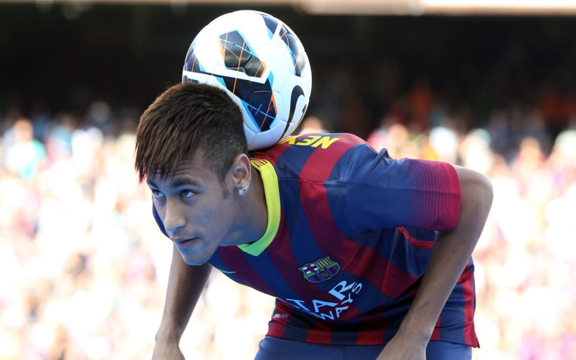 Download wallpaper Neymar Barcelona, Neymar Presentation, Ne
