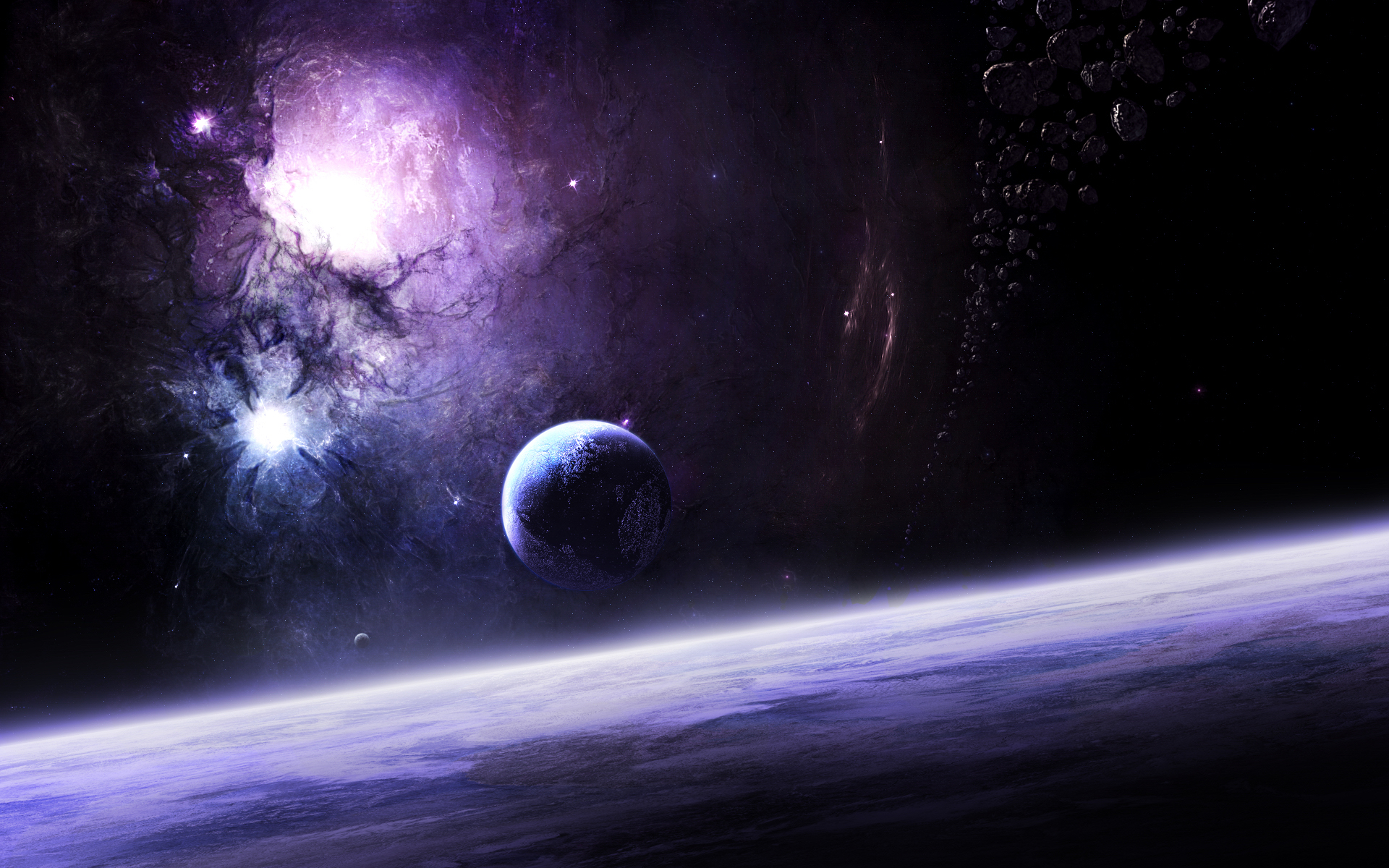 outer space planets - HD1680×1050