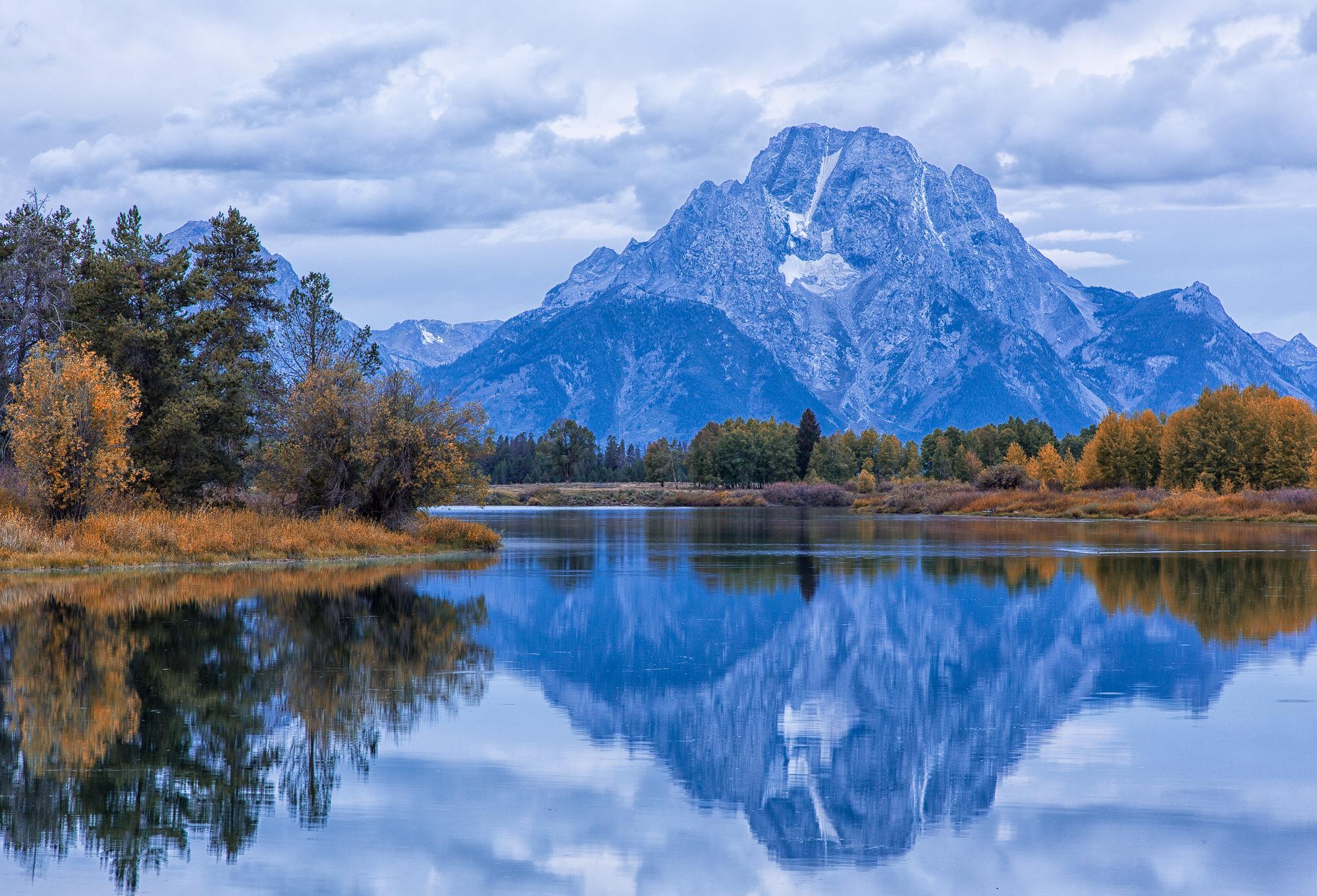 природа река горы небо облака отражение  № 2503235  скачать