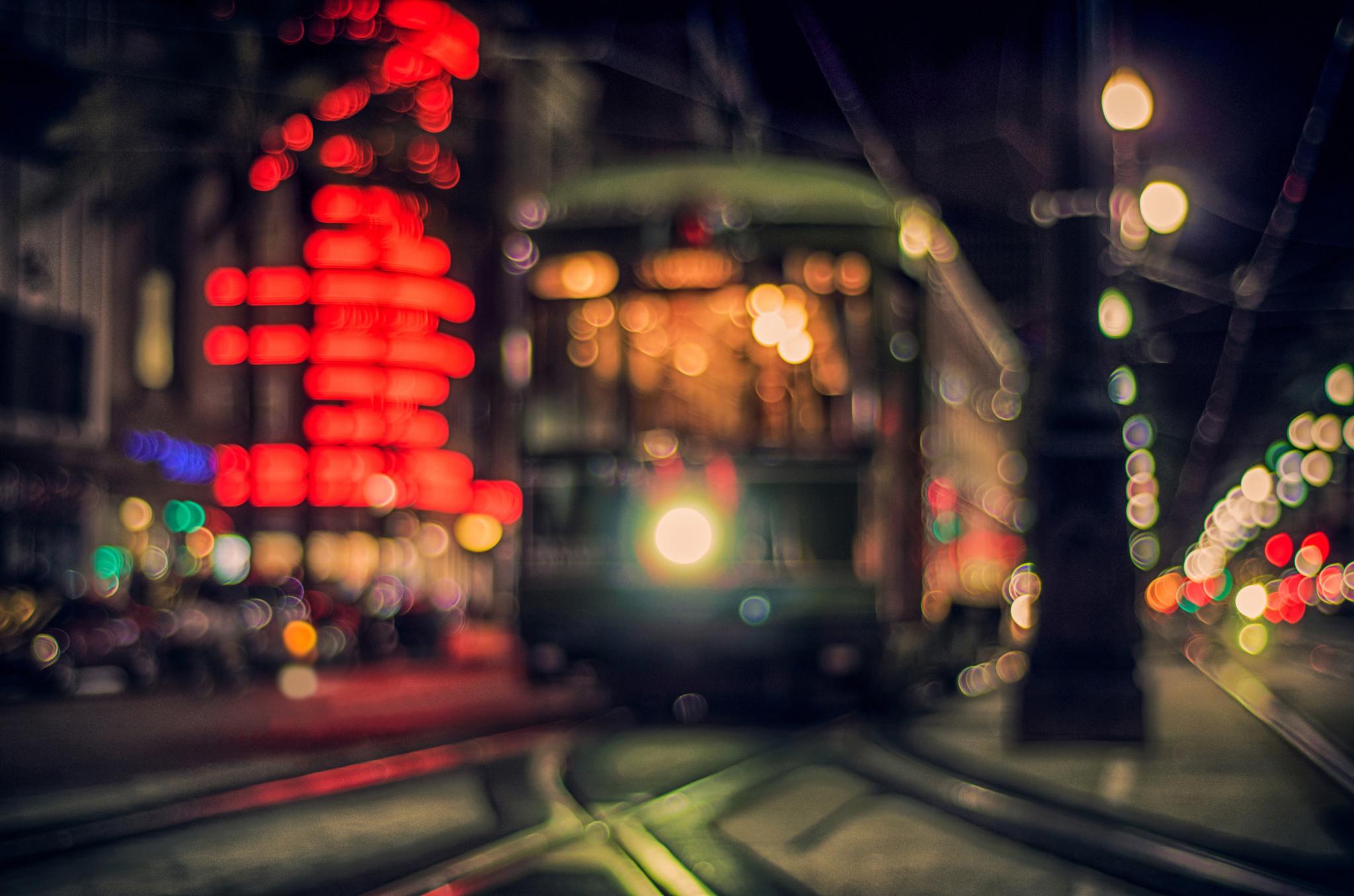 Франция дороги ночь фонари  № 2229301 бесплатно