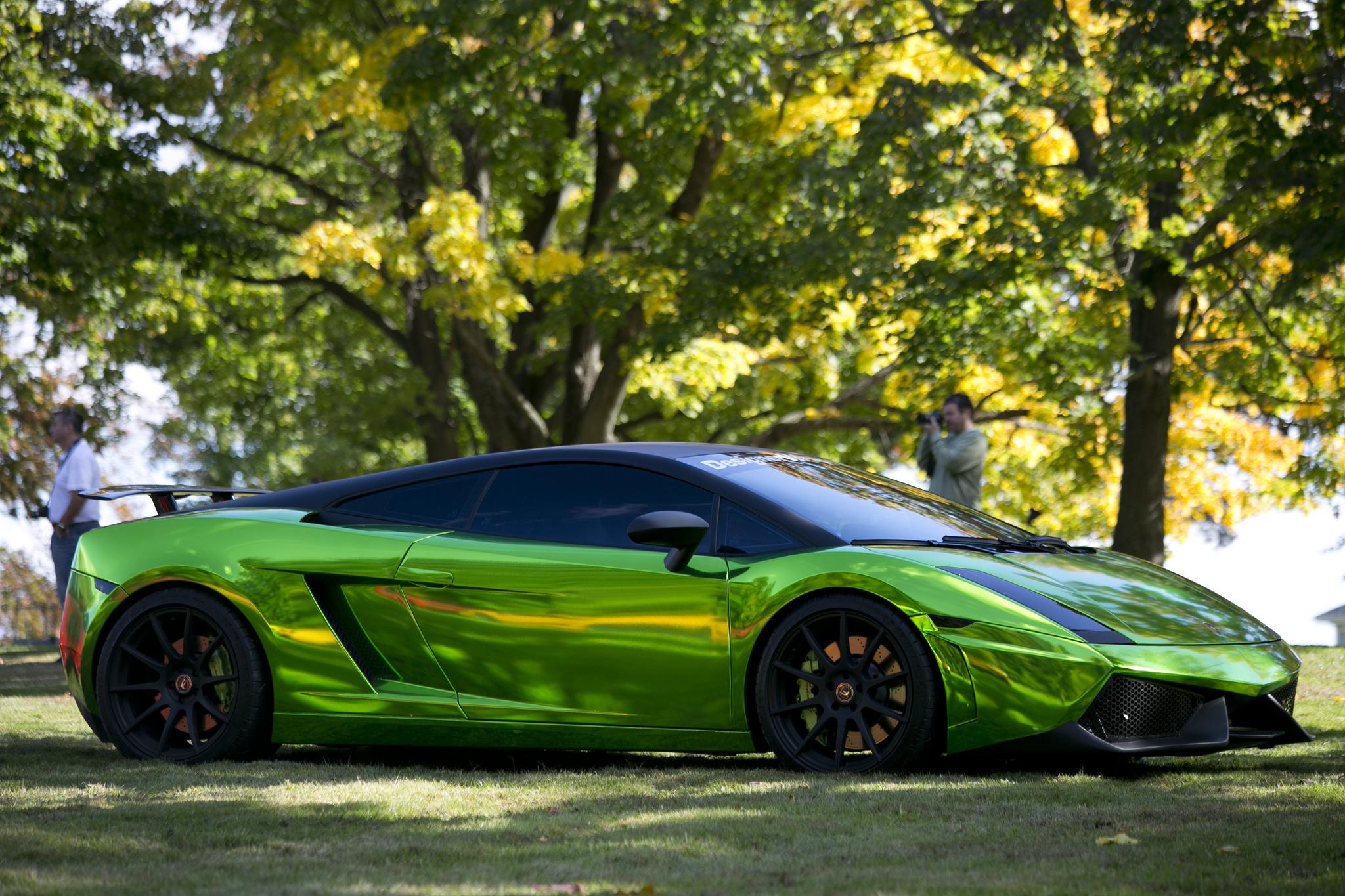 спортивный зеленый автомобиль Lamborghini  № 2996321 бесплатно