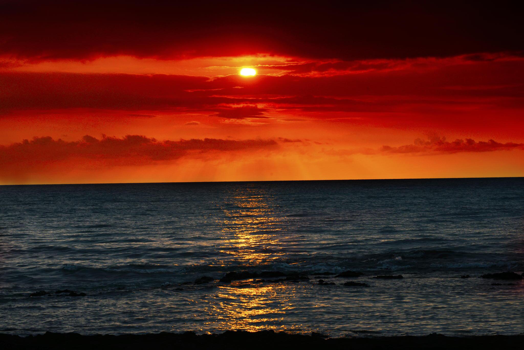 закат море волны  № 3911347 загрузить