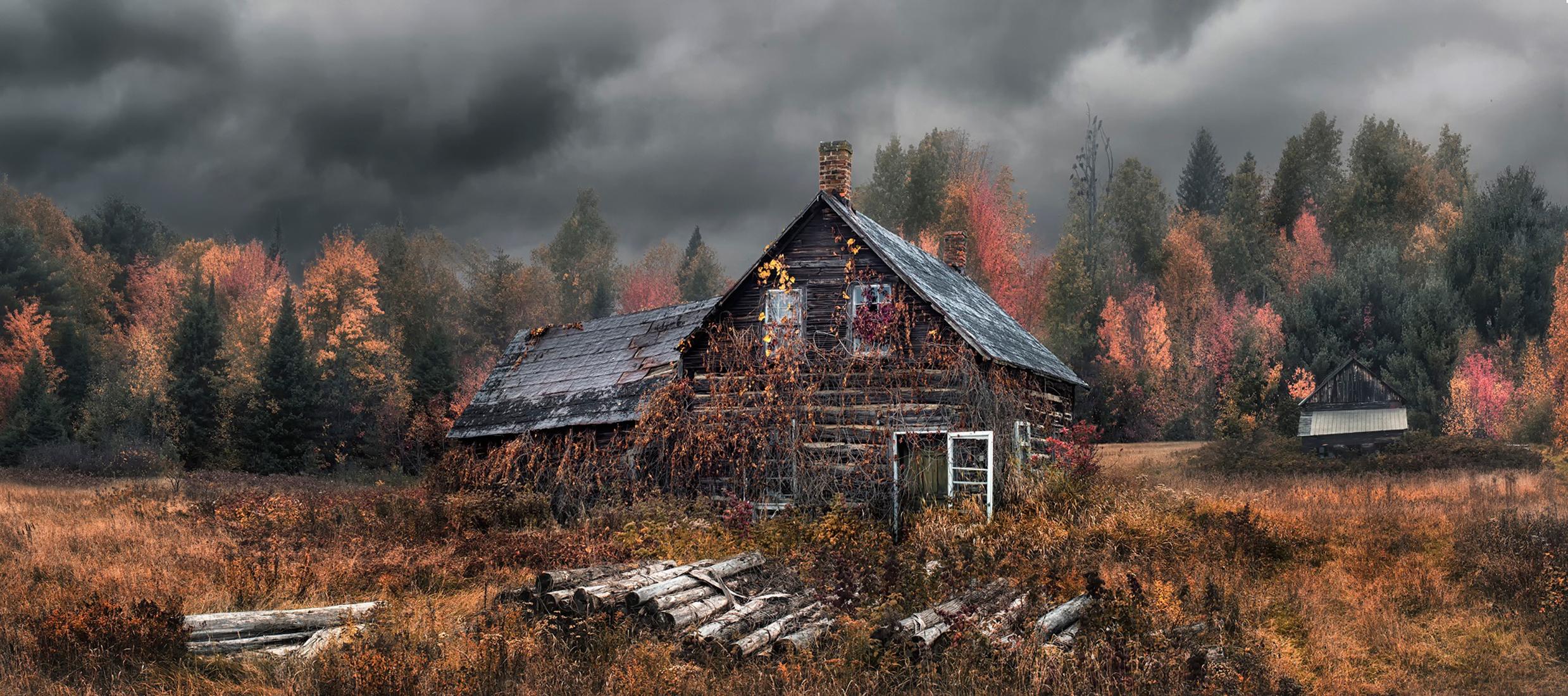 горы сарай осень mountains the barn autumn  № 387058  скачать