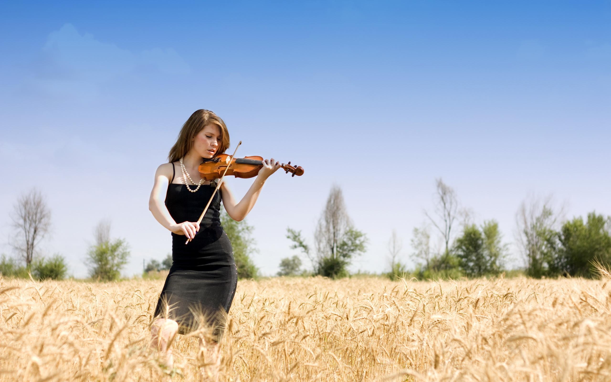Девушка со скрипкой абстракция  № 2052364 без смс