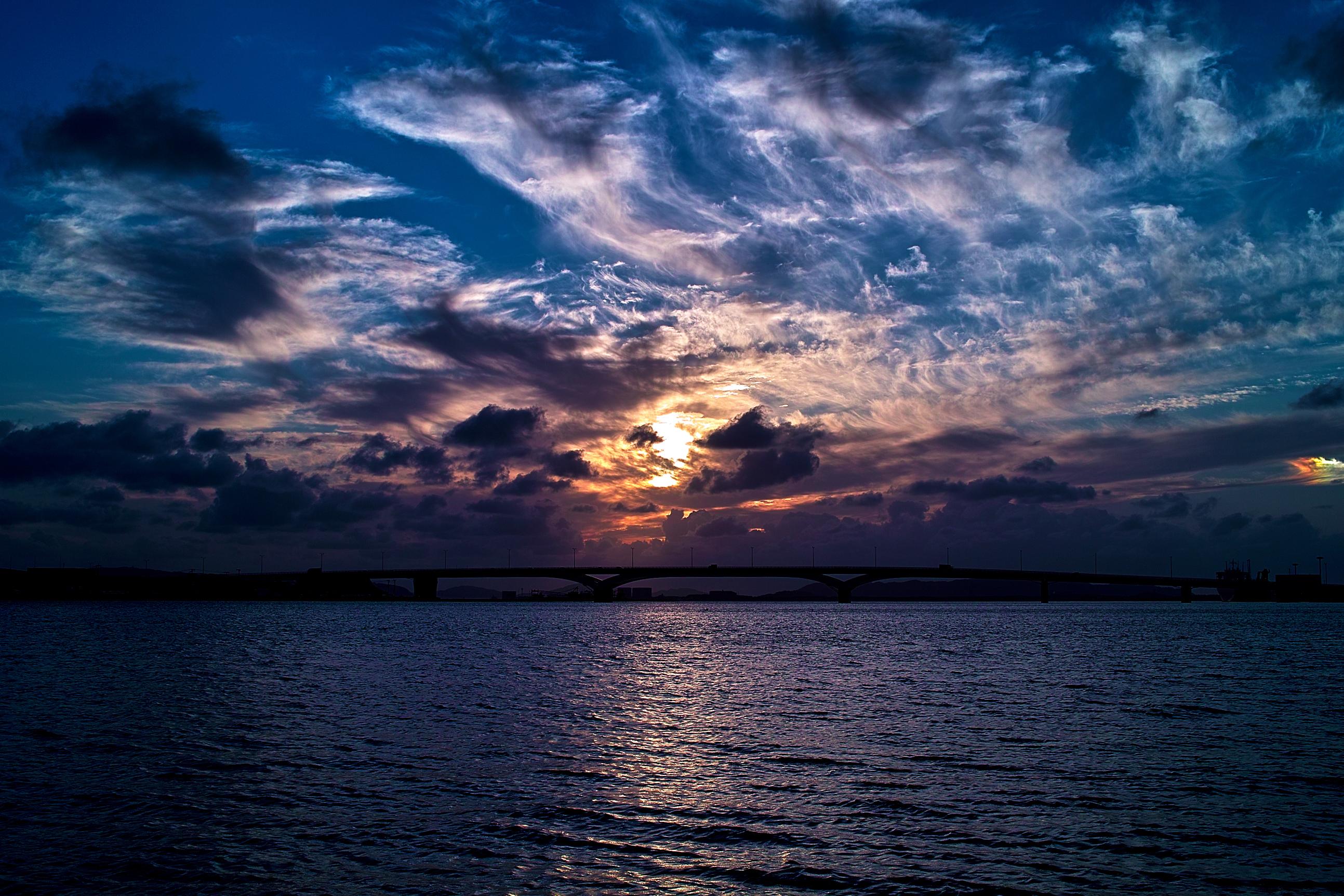 закат над бушующим морем  № 602794 загрузить