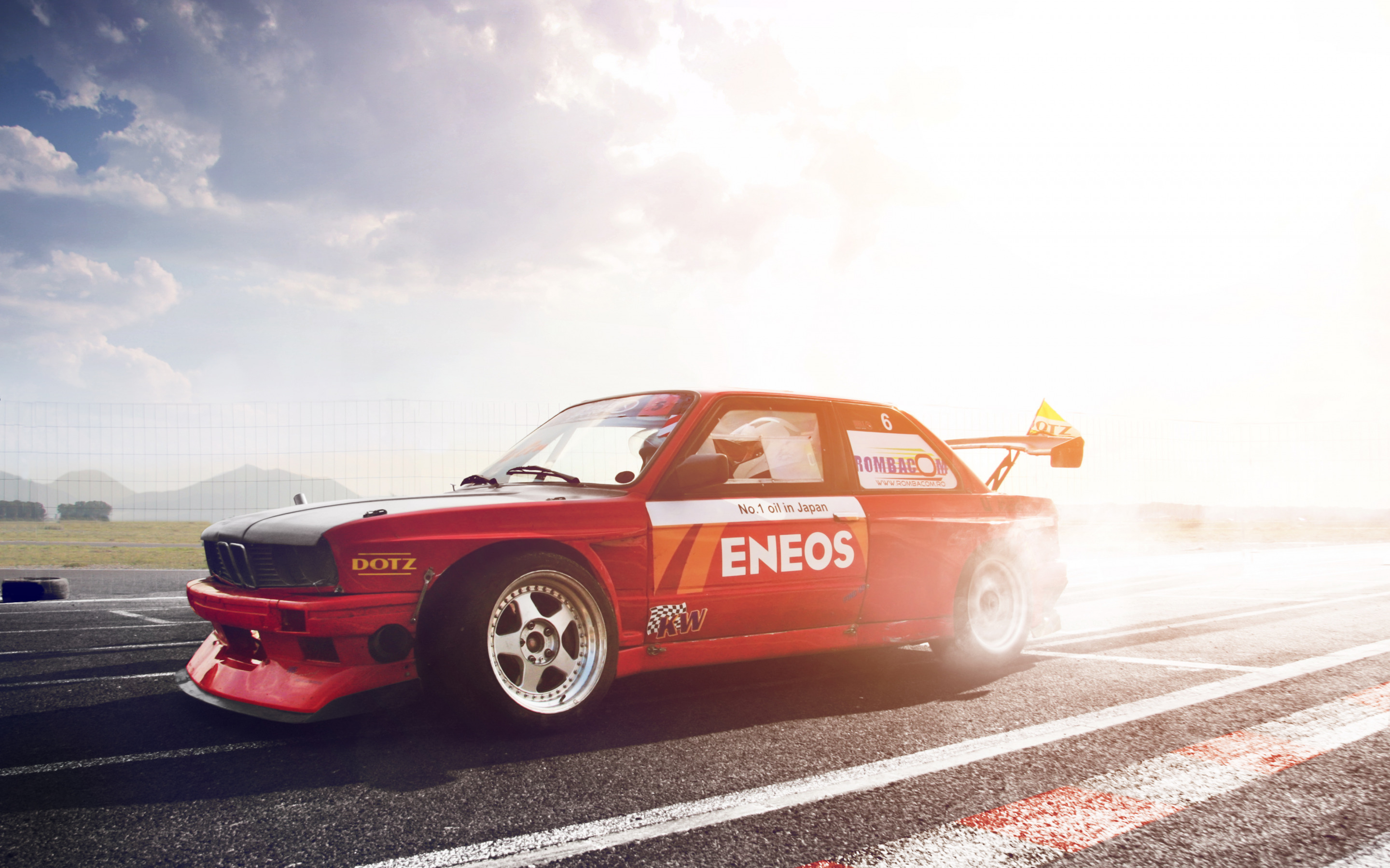 Download Wallpaper Red Bmw Bmw Turbo Red Tuning The 3 Series Turbo E30 Drift Section Bmw In Resolution 2880x1800