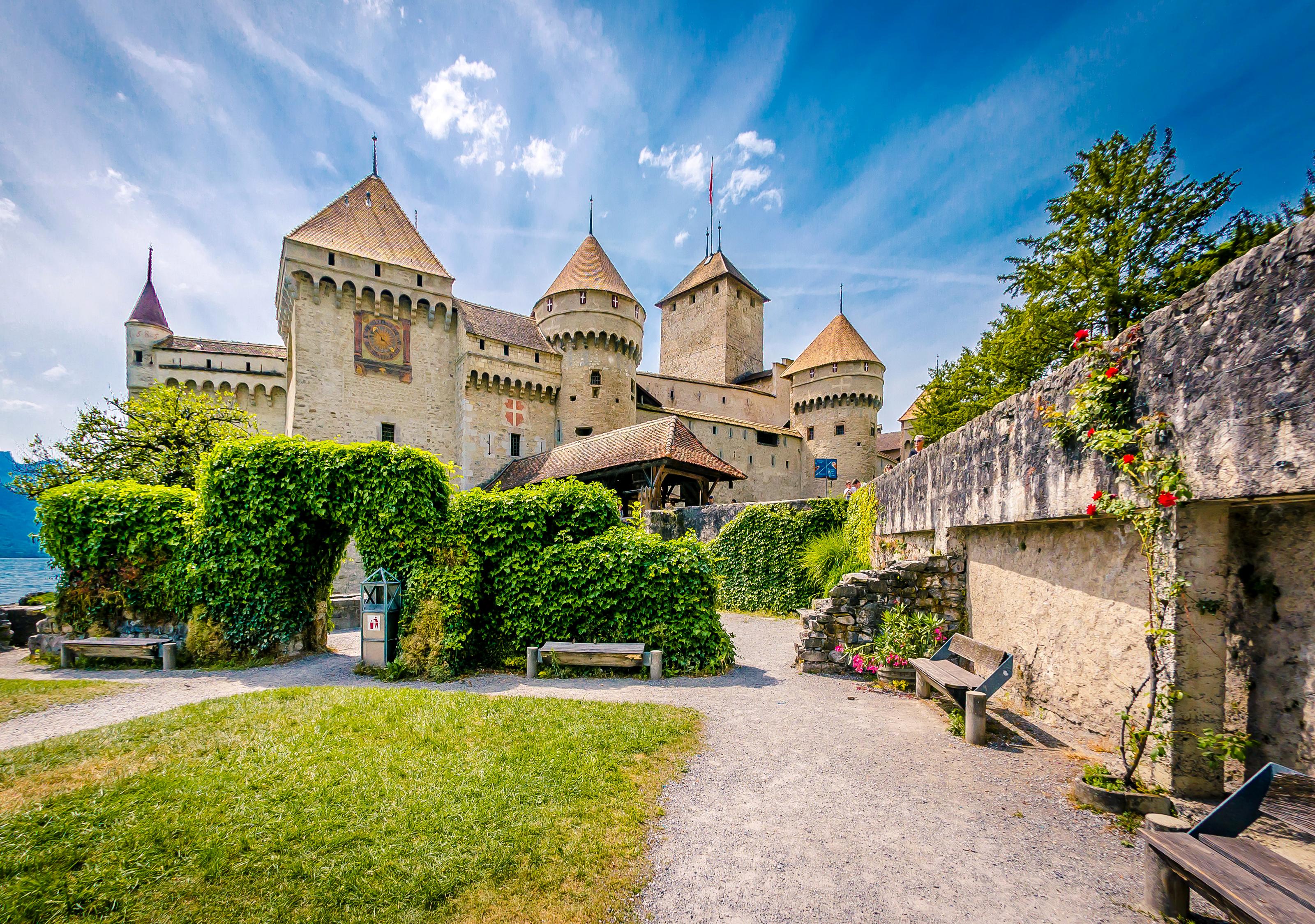Замок швейцария вечер  № 2569422 без смс