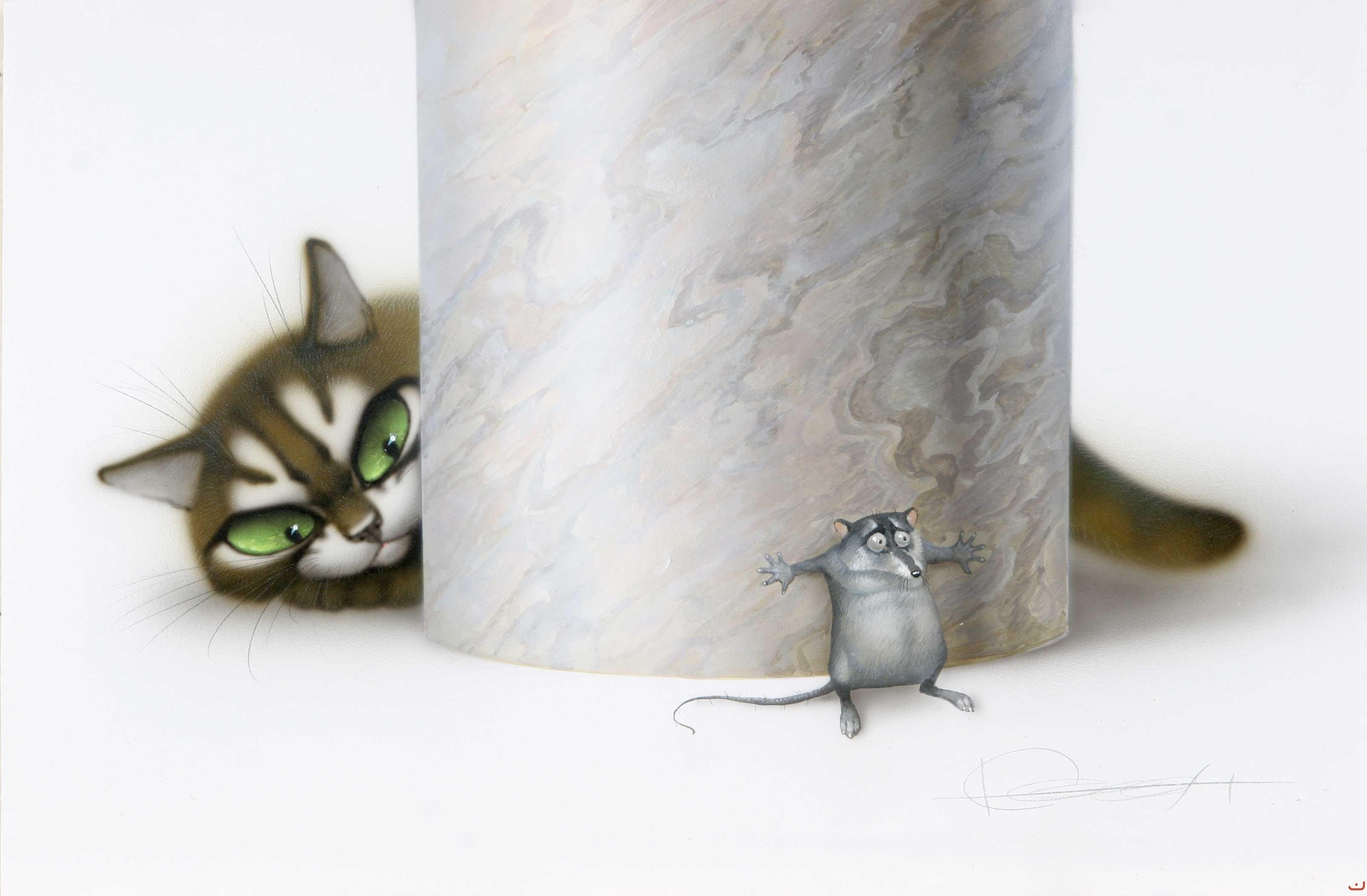 Смешные мультяшные котики и мышки