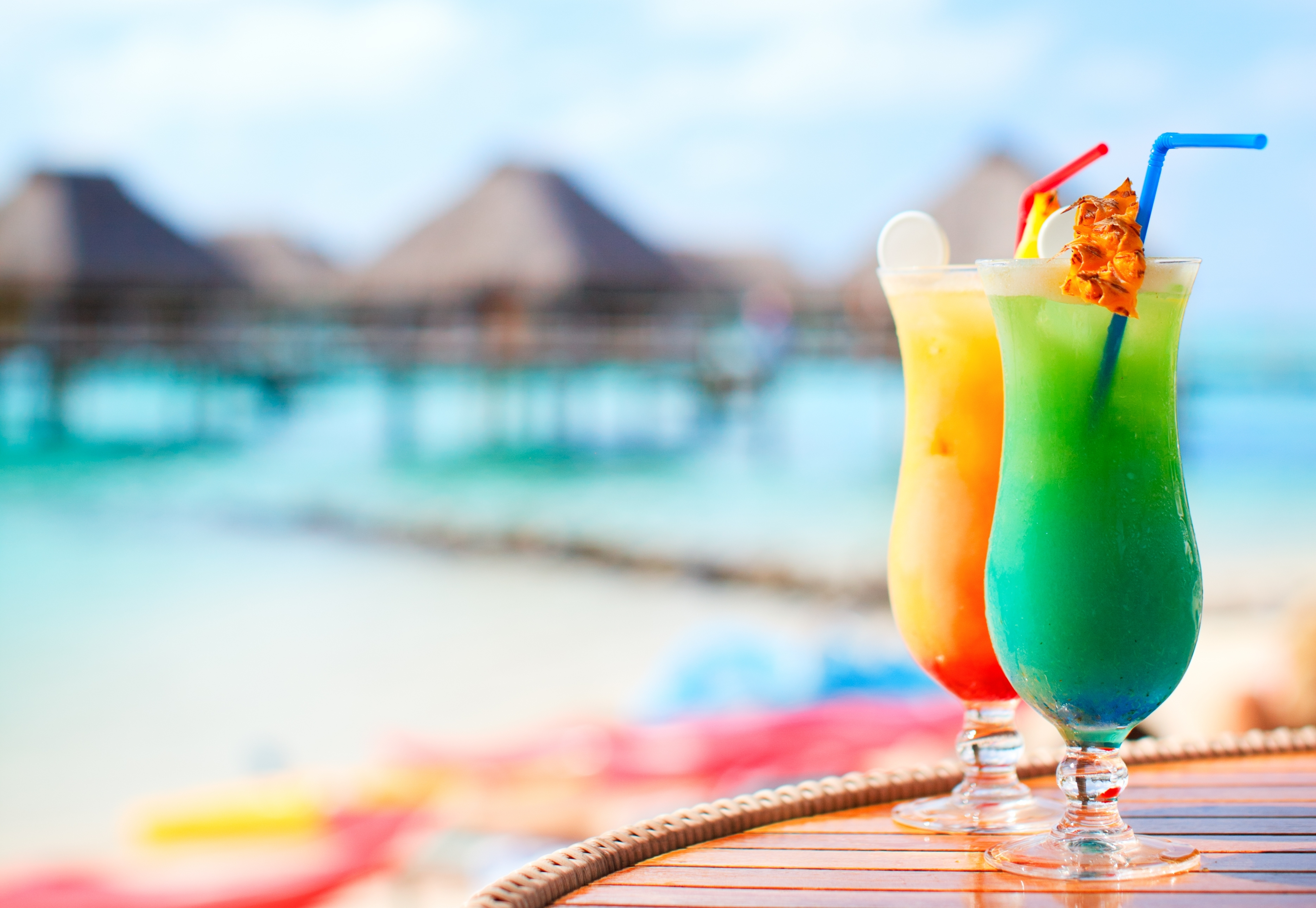 Download Wallpaper Table Cocktails Beach Tube