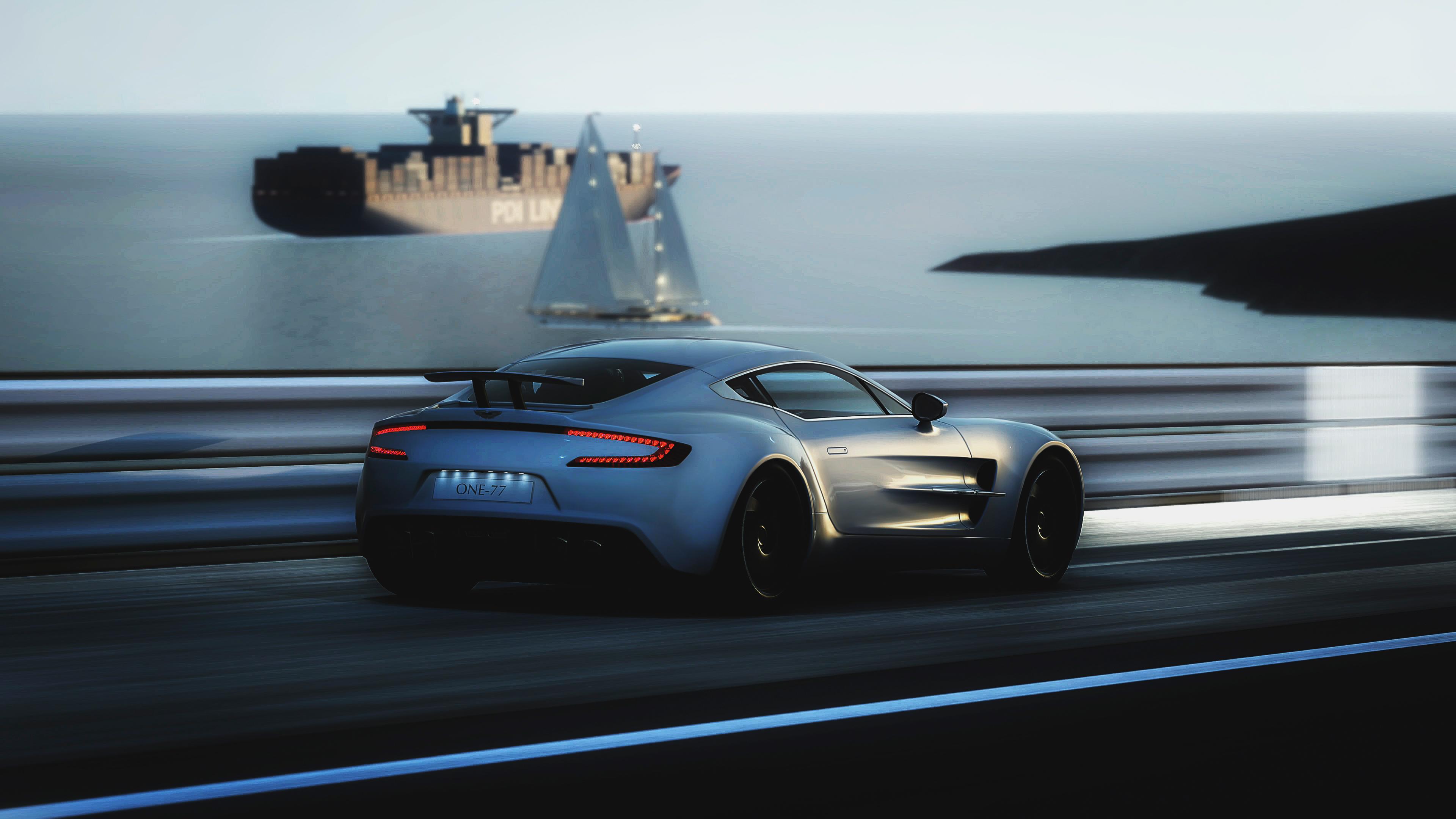 Aston Martin суперкар ночь город  № 2374899  скачать