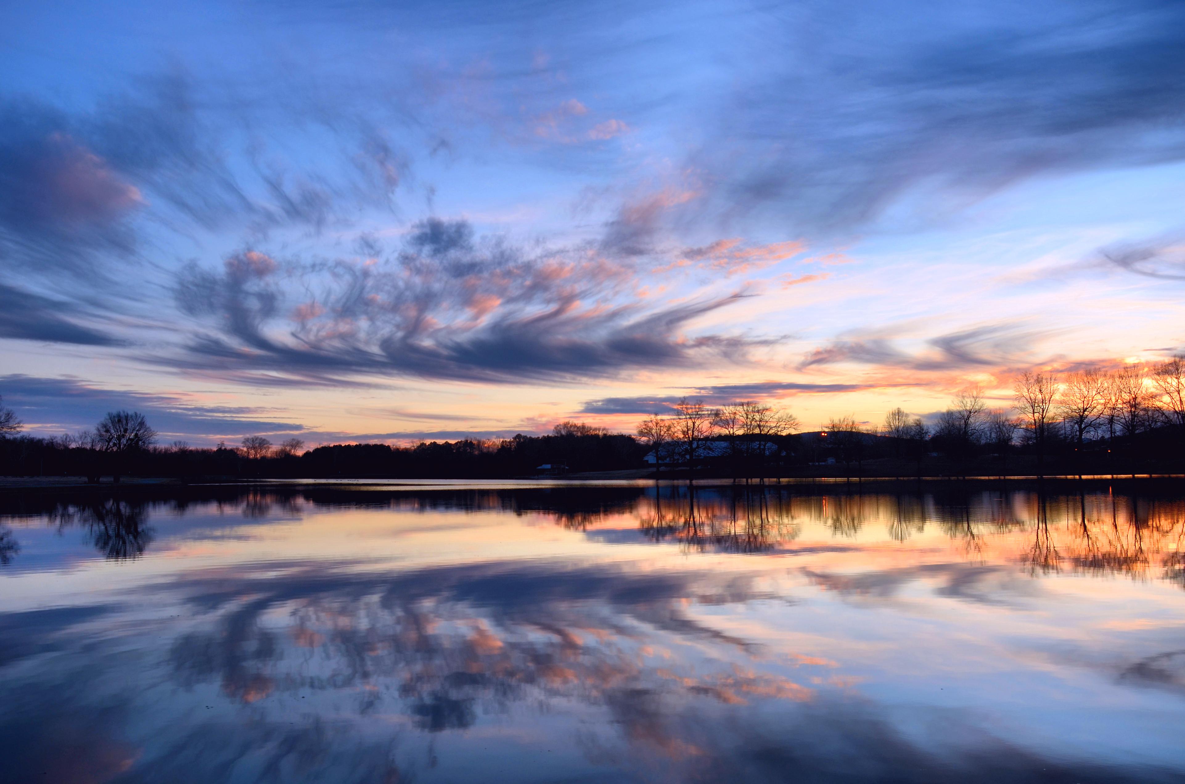 природа река деревья облака небо  № 316596  скачать