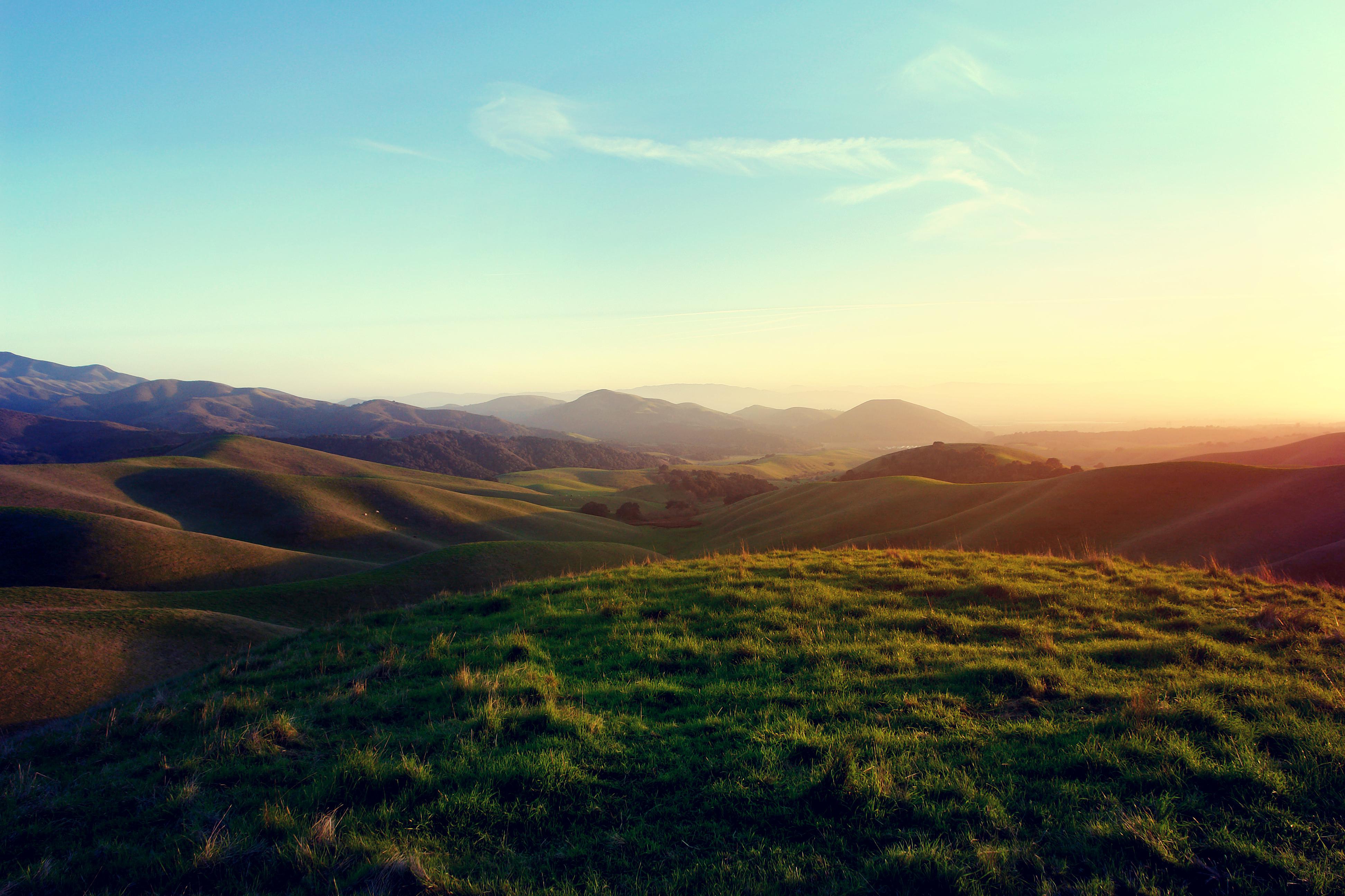 поляна цветы трава холмы горы glade flowers grass hills mountains  № 1829246 без смс