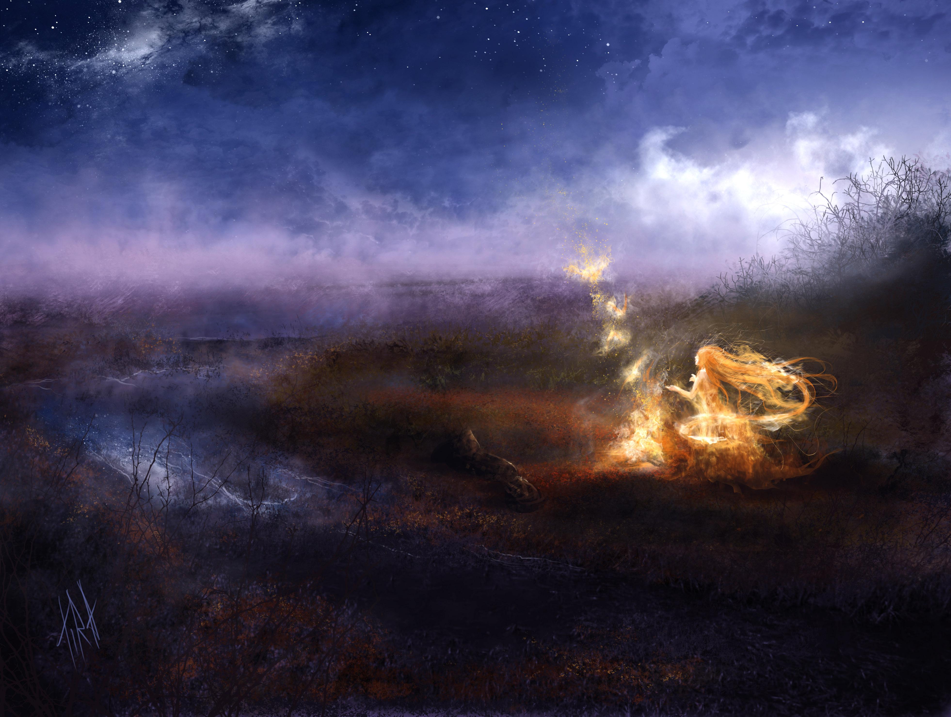 Спокойствие умиротворение огонь костер  № 3560252  скачать