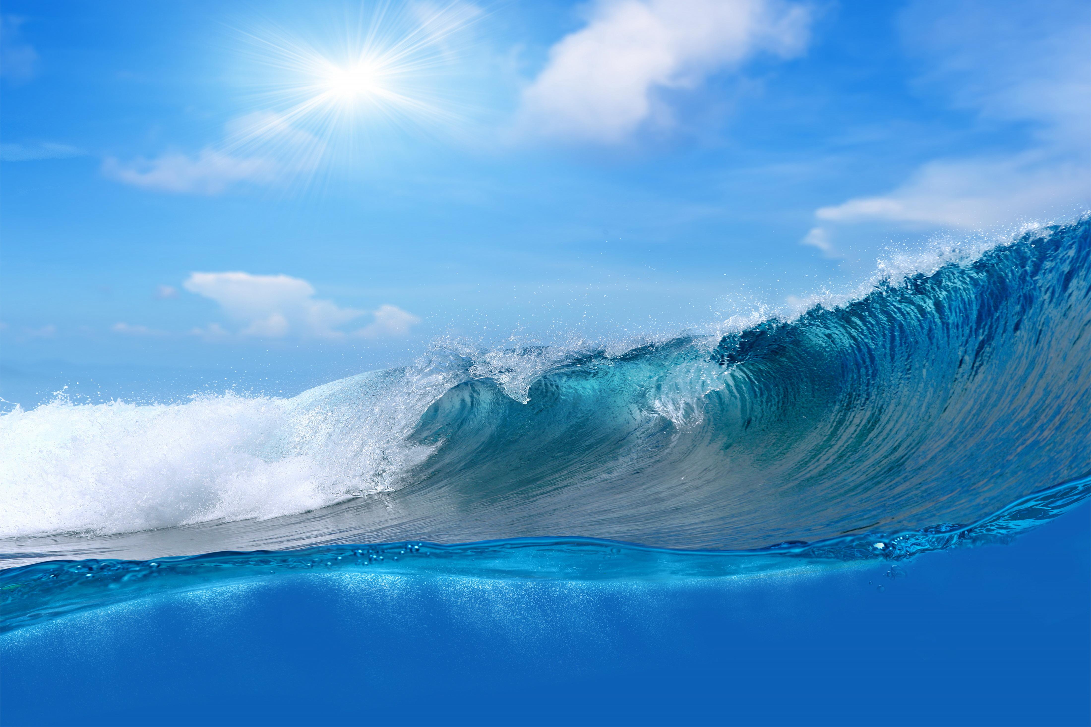 природа море волна вода  № 1195727  скачать