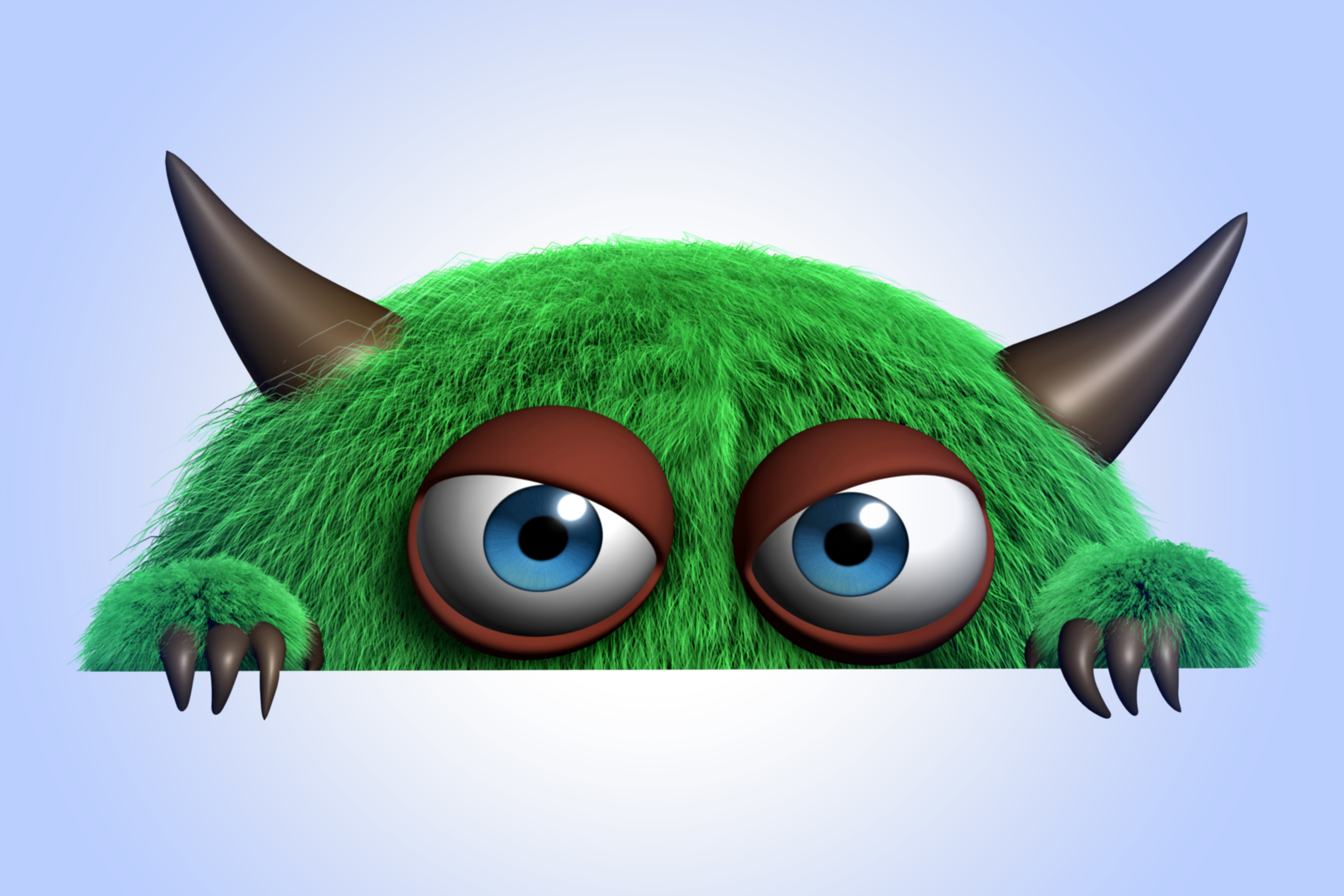 Download Wallpaper Cartoon Character Cute Monster Funny