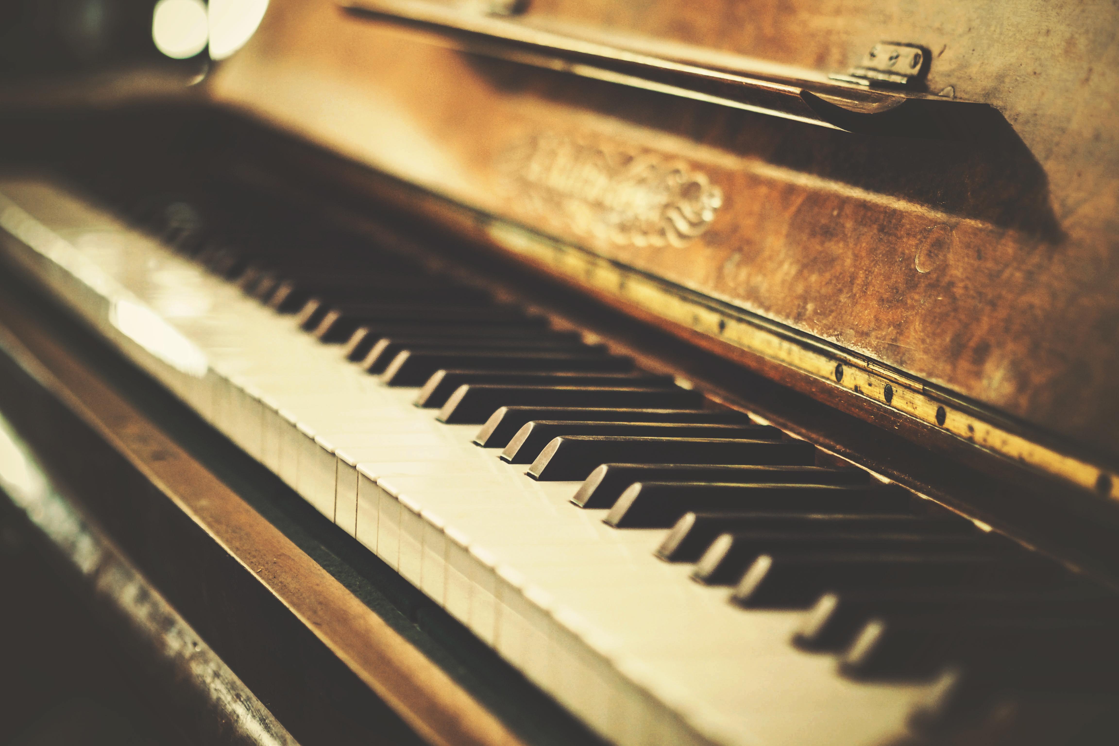 Download Wallpaper Retro Photo Old Vintage Piano Old