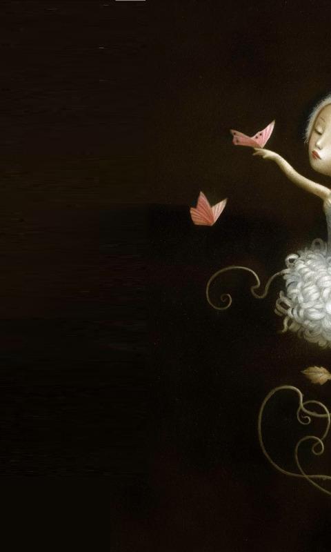 Download Wallpaper Flower Butterfly Art Ballerina