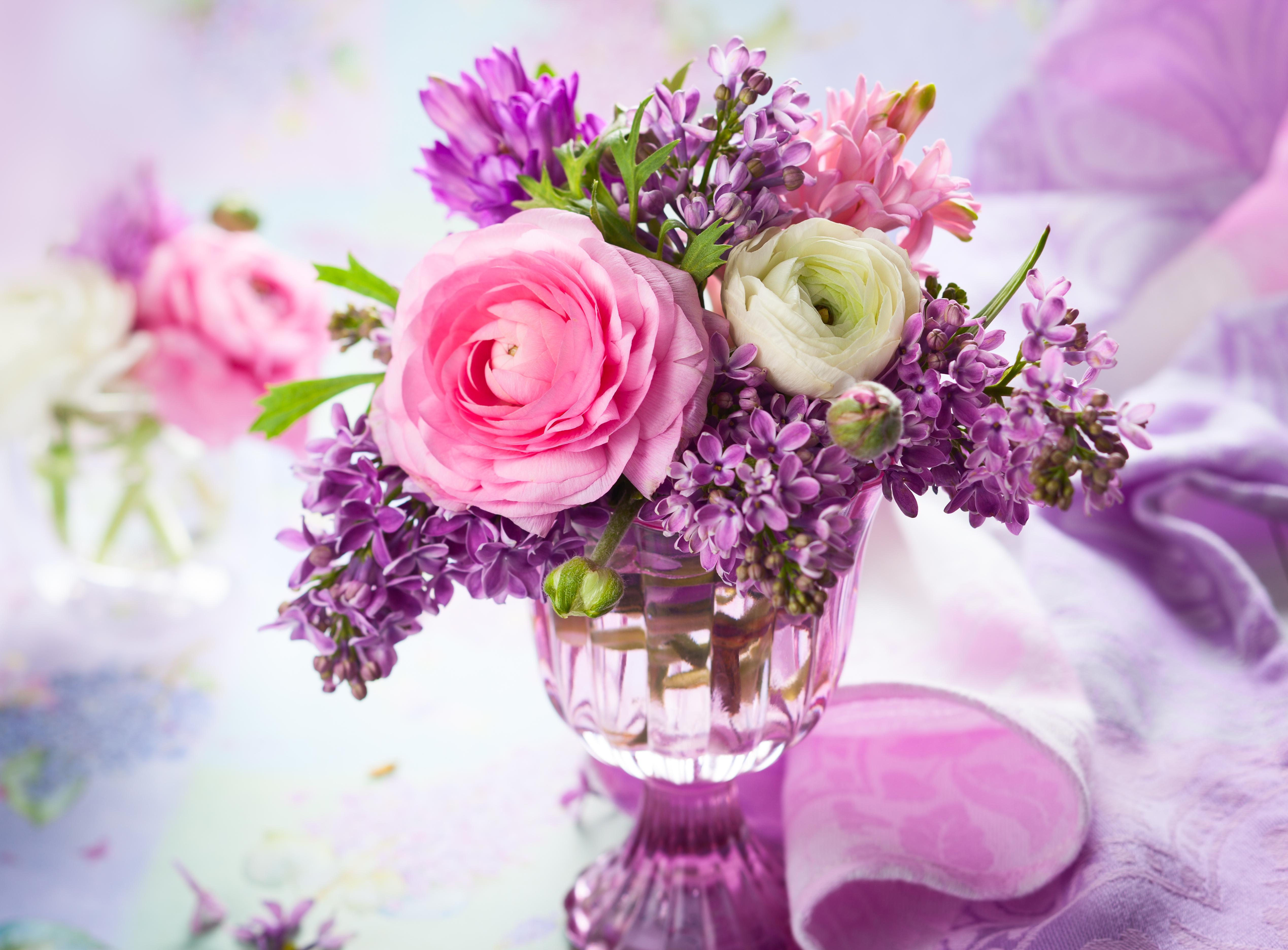 природа цветы ваза сирень  № 3063967 без смс