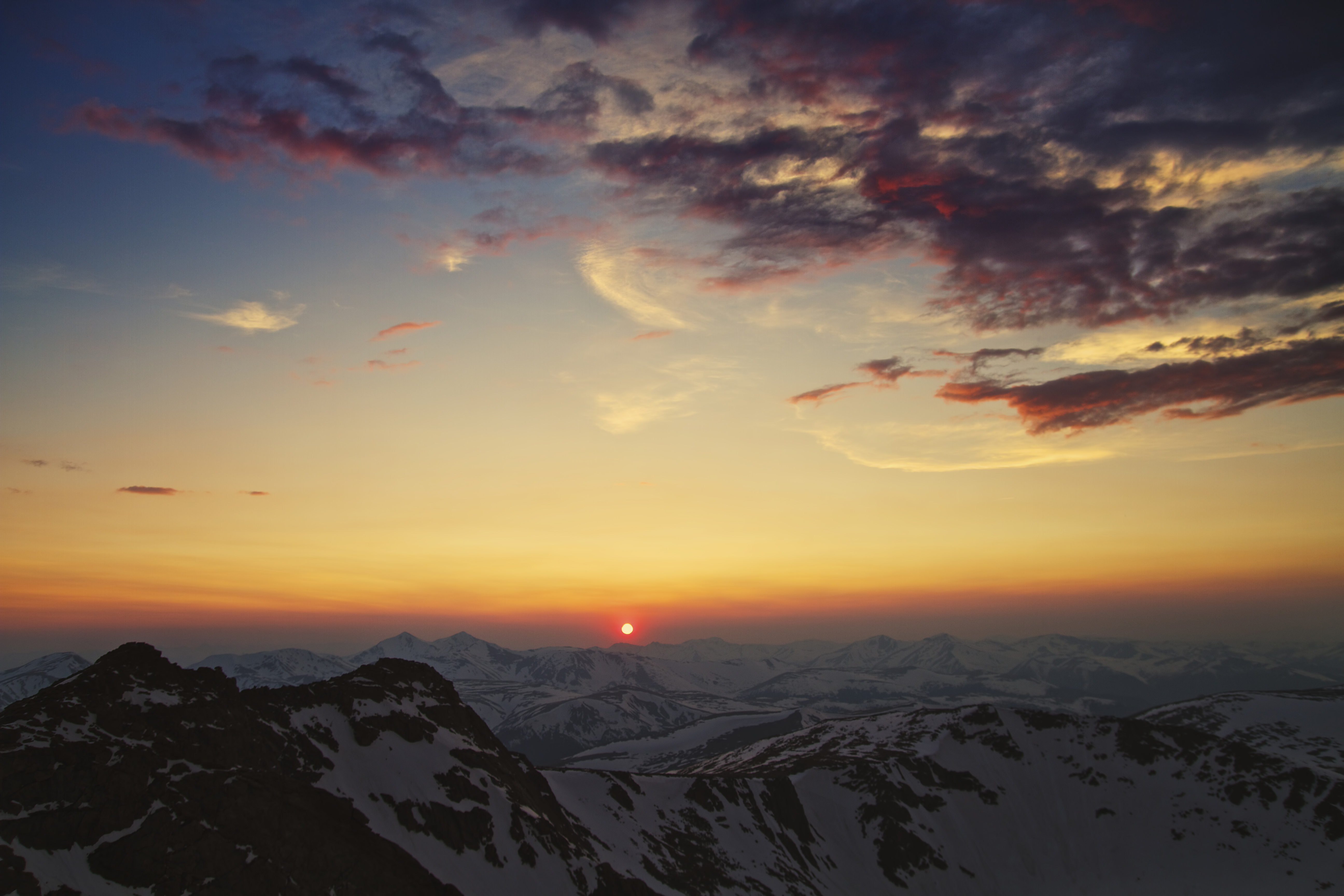 Небо горы блики  № 3013133 бесплатно