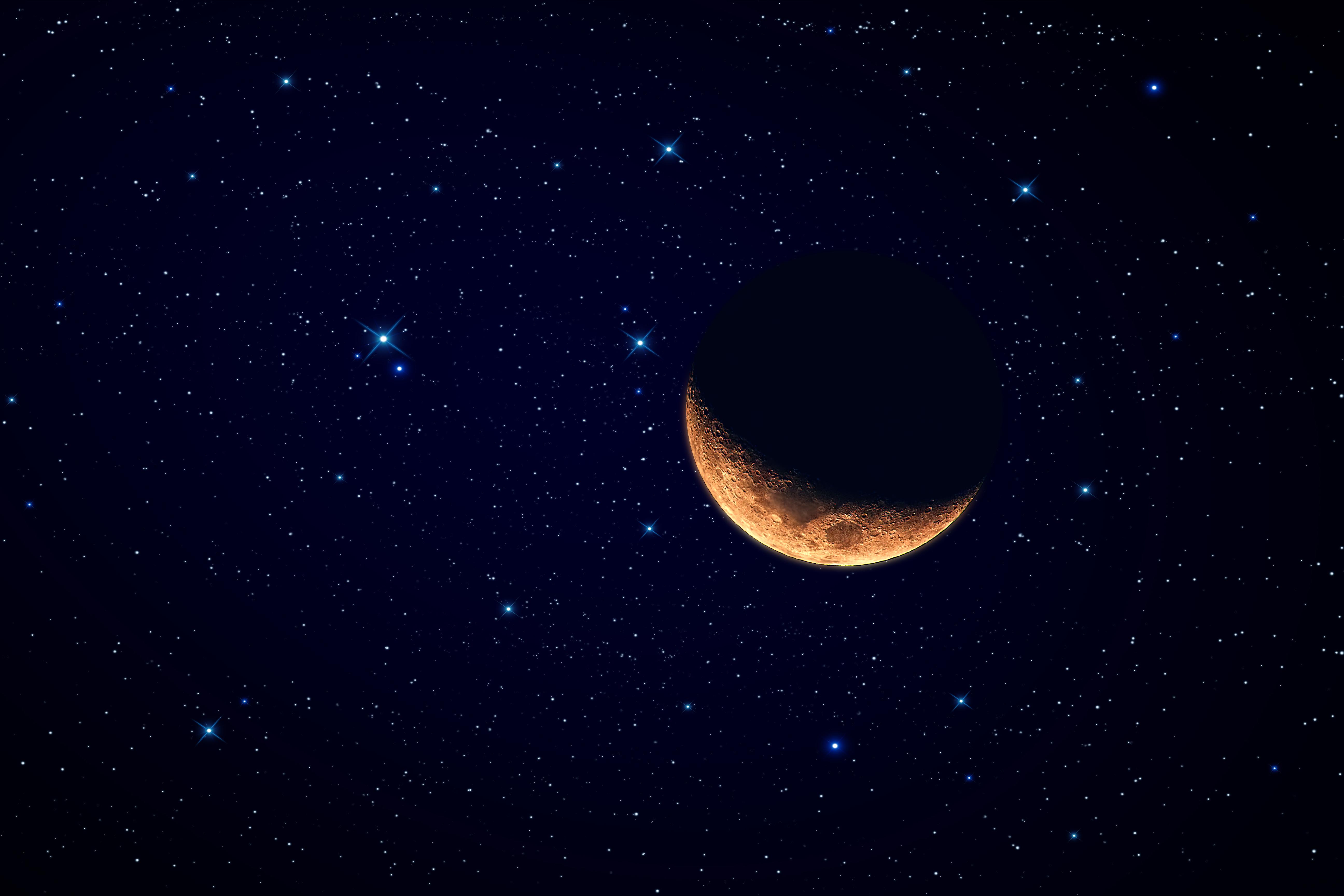 moon and stars - HD1280×800