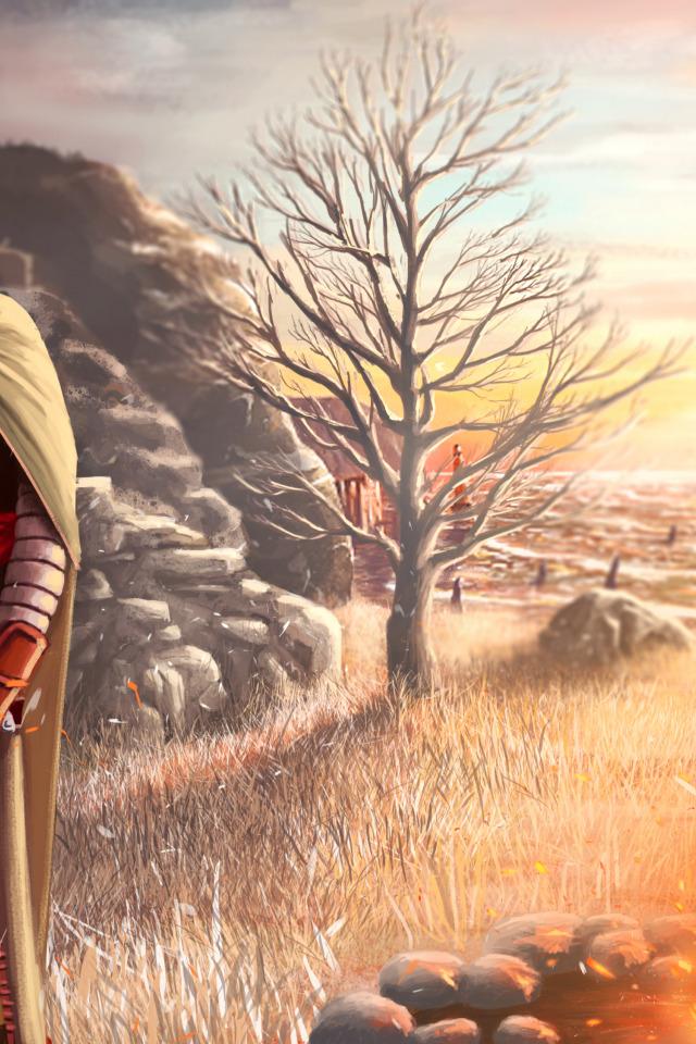 Download Wallpaper Woman The Fire Hood Cloak Dark Souls 2 Majula Shanalotte Section Games In Resolution 640x960