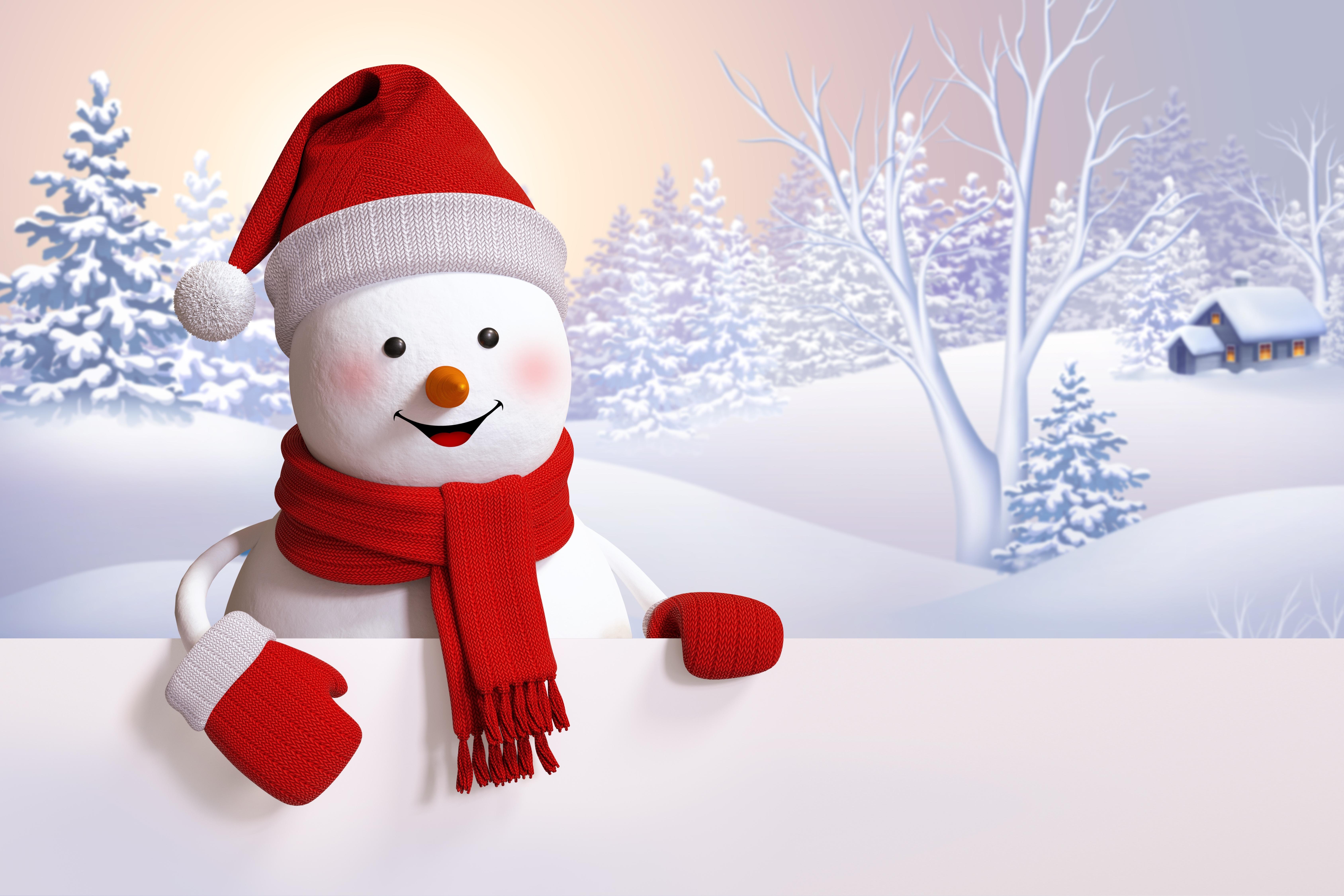 Снеговик на сноуборде  № 3290165 бесплатно
