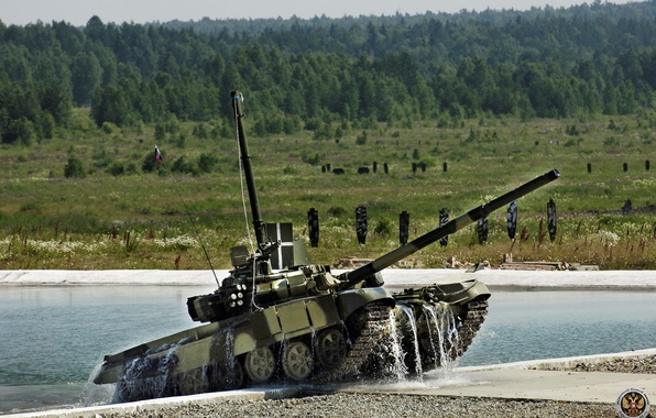 Picture water, tank, polygon, t-90