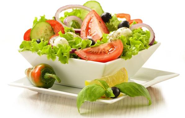 Picture greens, vegetables, vegetables, greens, lettuce, vegetable salad, vegetable salad, green salad