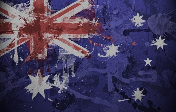 Picture squirt, paint, texture, flag, Australia