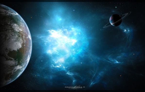 Picture space, nebula, planet, art, space, nebula, art, planets