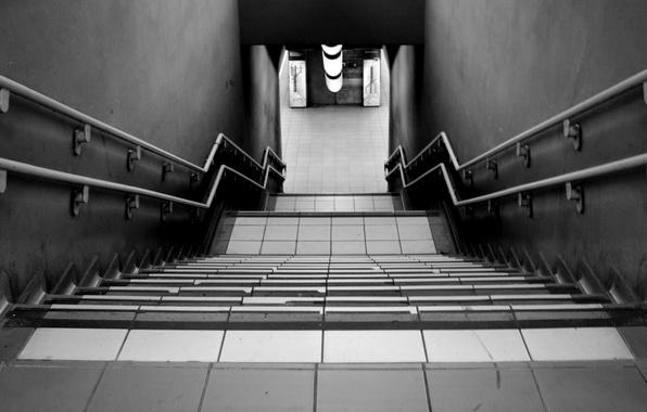 Picture the descent, ladder, steps