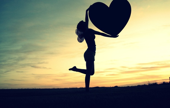 Picture the sky, freedom, girl, love, sunset, heart, wings, horizon, love, feeling