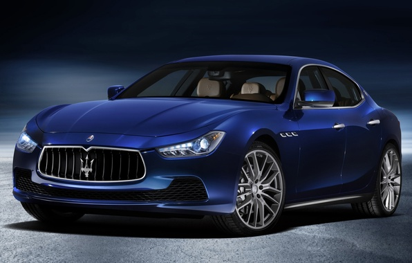 Picture blue, Maserati, Maserati, the front, Ghibli, Gib