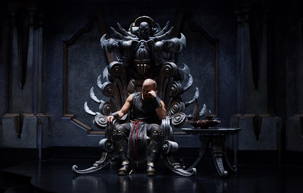 Picture hall, The Chronicles of Riddick, The Chronicles Of Riddick, VIN Diesel, the throne, Vin Diesel