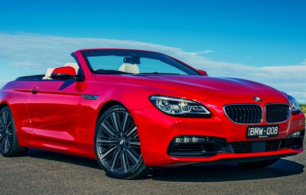Picture BMW, BMW, convertible, Cabrio, 640i, AU-spec, 2015, 6-Series