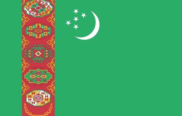 Picture green, colors, Turkmenistan