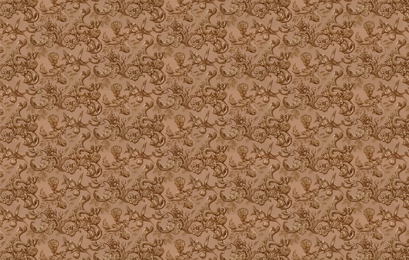 Picture leaves, flowers, background, wall, Wallpaper, figure, texture, floral ornament
