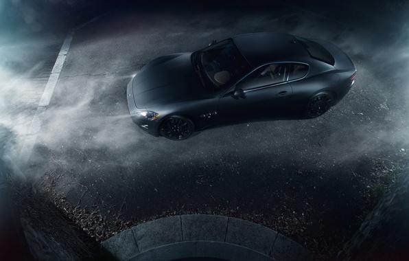 Picture Maserati, Turismo, Black, Smoke, Gran, Italian, Exotic